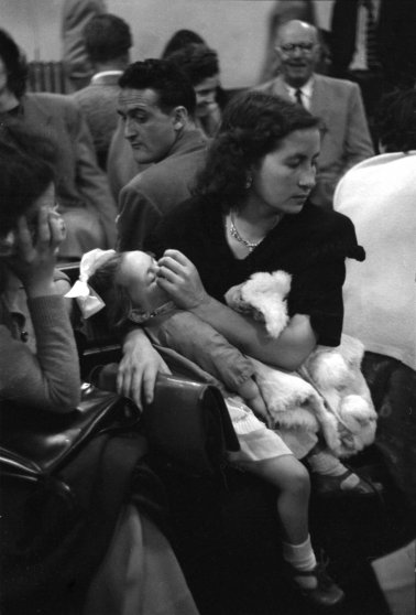 Immigrants at Ellis Island, 1950.