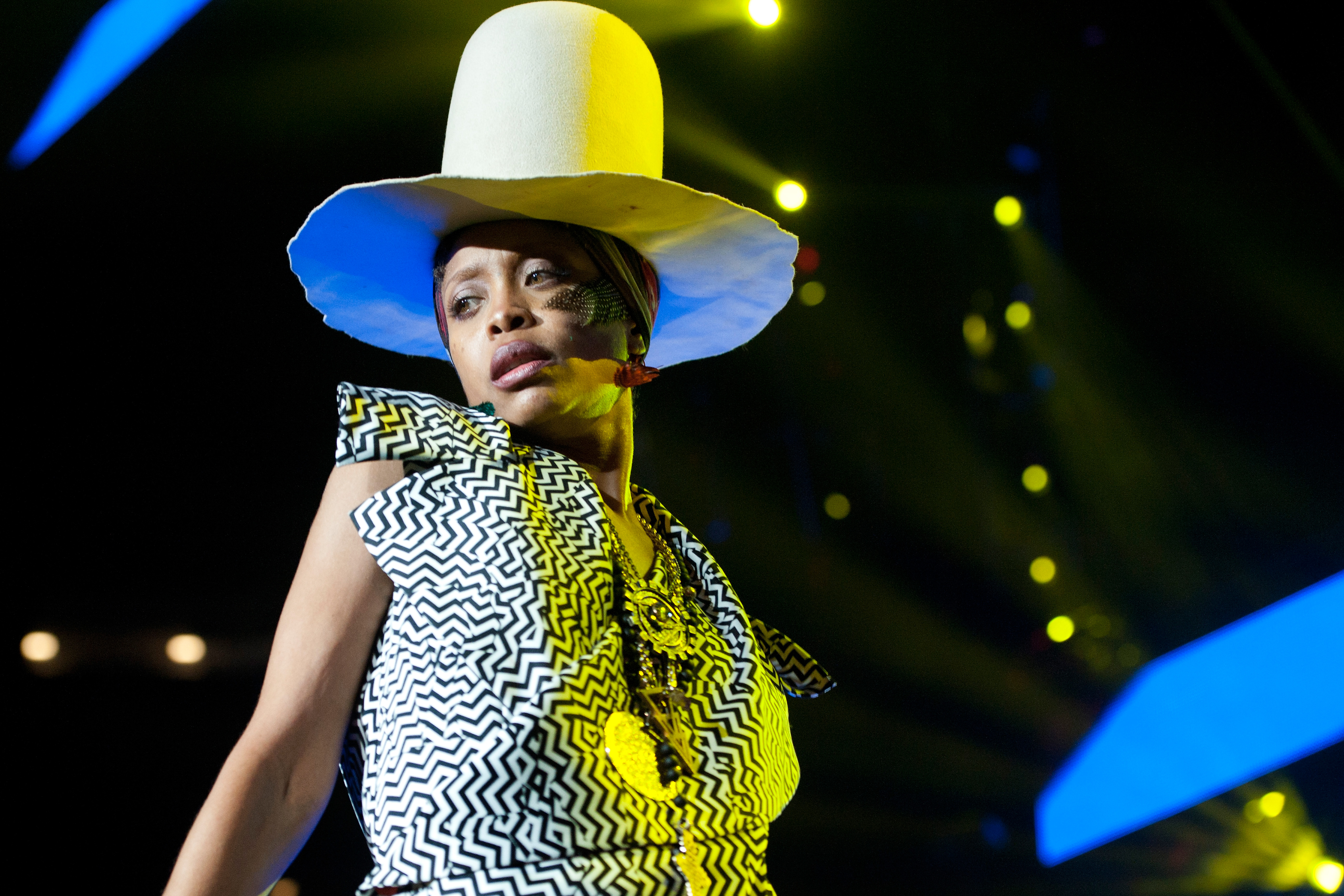 Erykah Badu performs during the 2014 Essence Music Festival on July 6, 2014 in New Orleans, Louisiana.