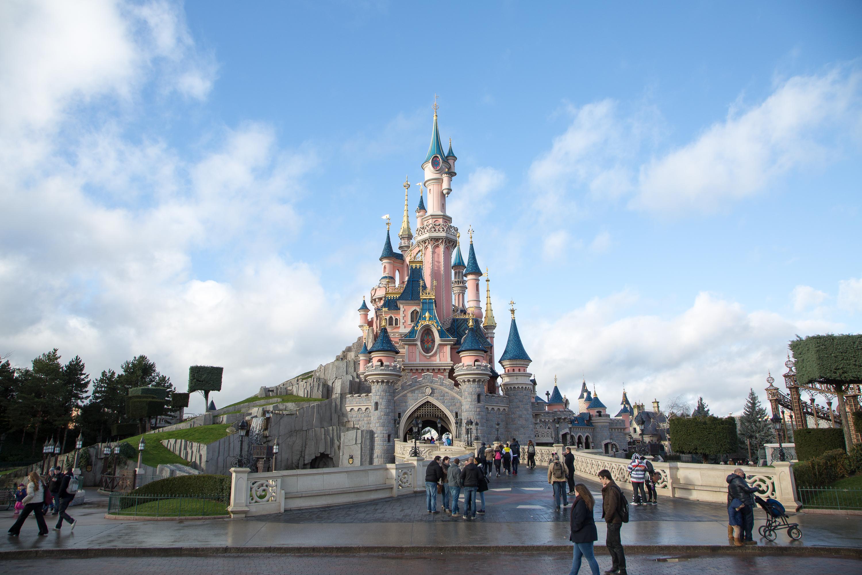 A general view of Disneyland Paris on Jan. 16, 2014.