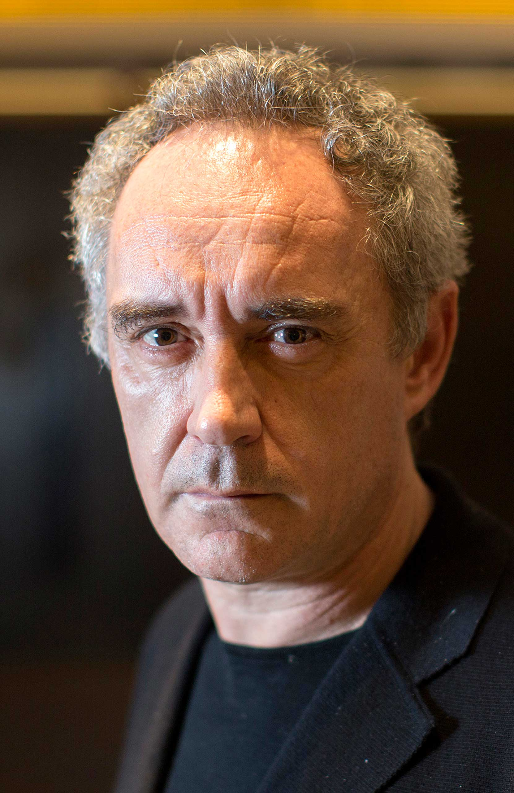 Ferran Adria, chef of the former El Bulli restaurant, poses for a photograph in Hong Kong, China, on Monday, April 1, 2013.