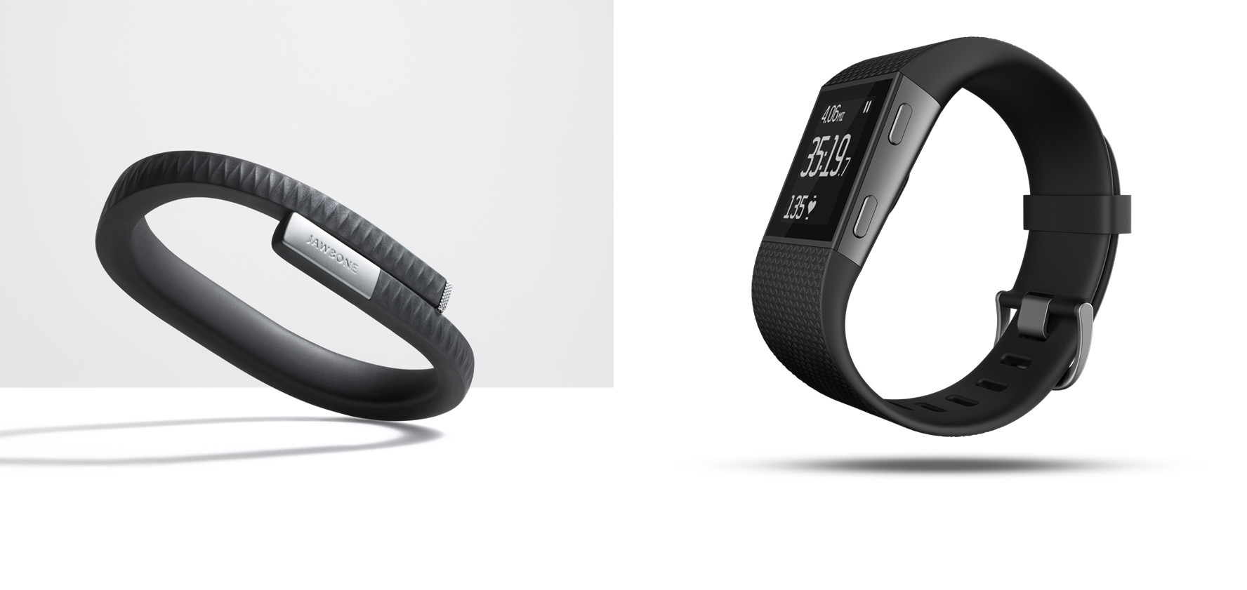 The Jawbone Up and the Fitbit Surge
