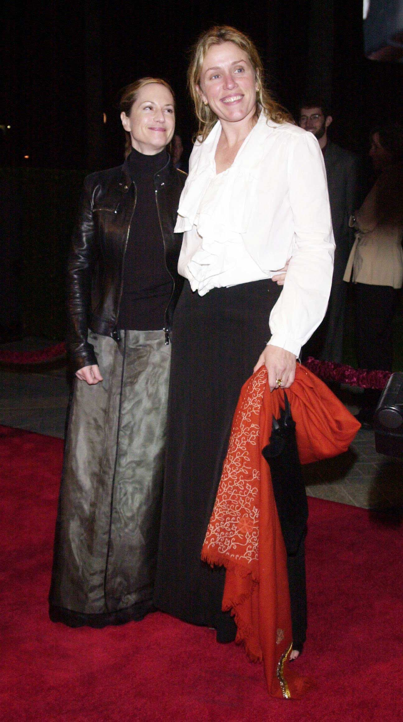 Frances McDormand and Holly Hunter met at drama school and lived together.