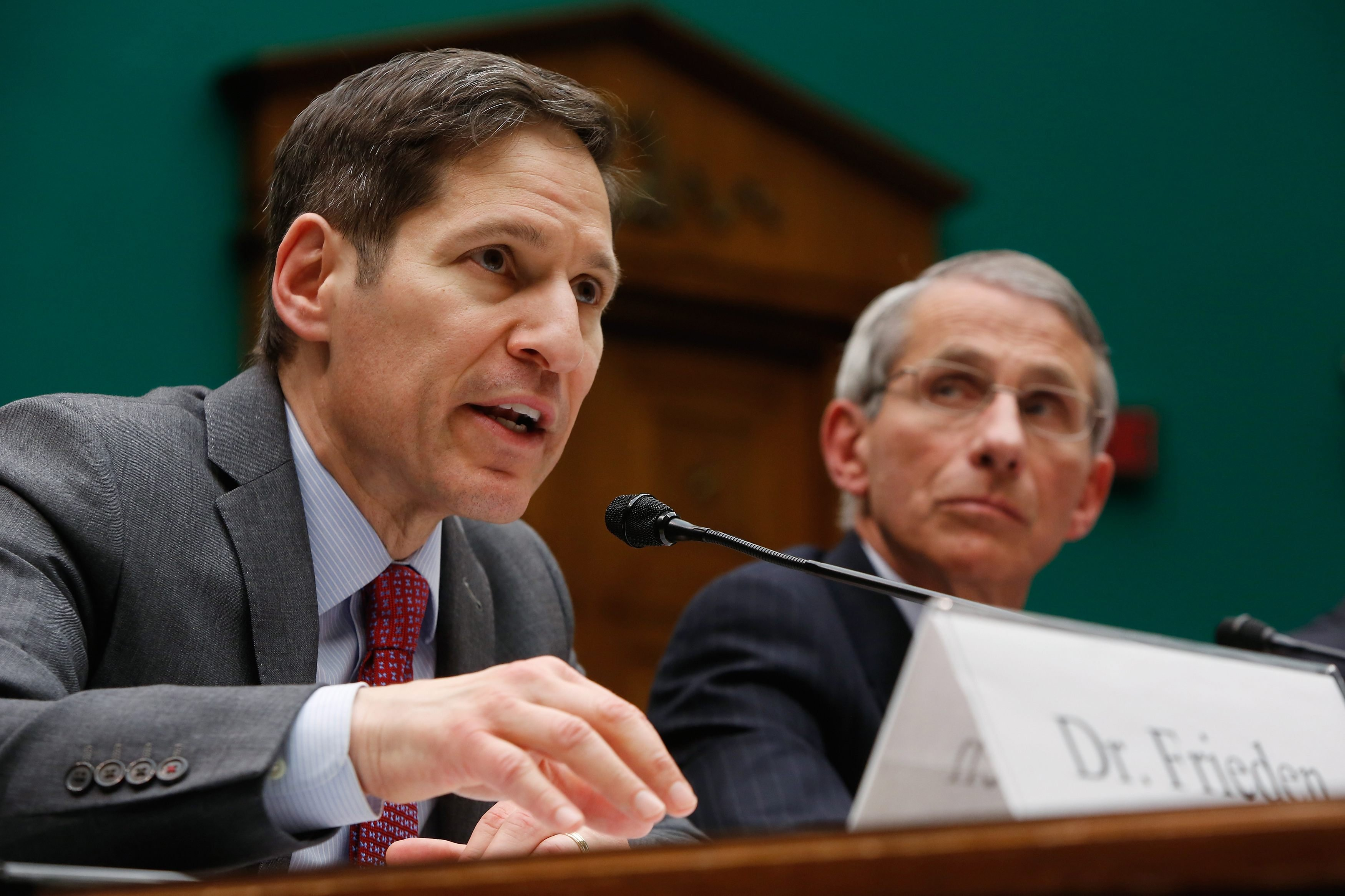 From Left: Center for Disease Control and Prevention Director Tom Frieden and National Institute of Allergy and Infectious Disease Director Anthony Fauci testify before a House Energy and Commerce Oversight and Investigations Subcommittee hearing on the U.S. response to the Ebola crisis, in Washington D.C. on Oct. 16, 2014.