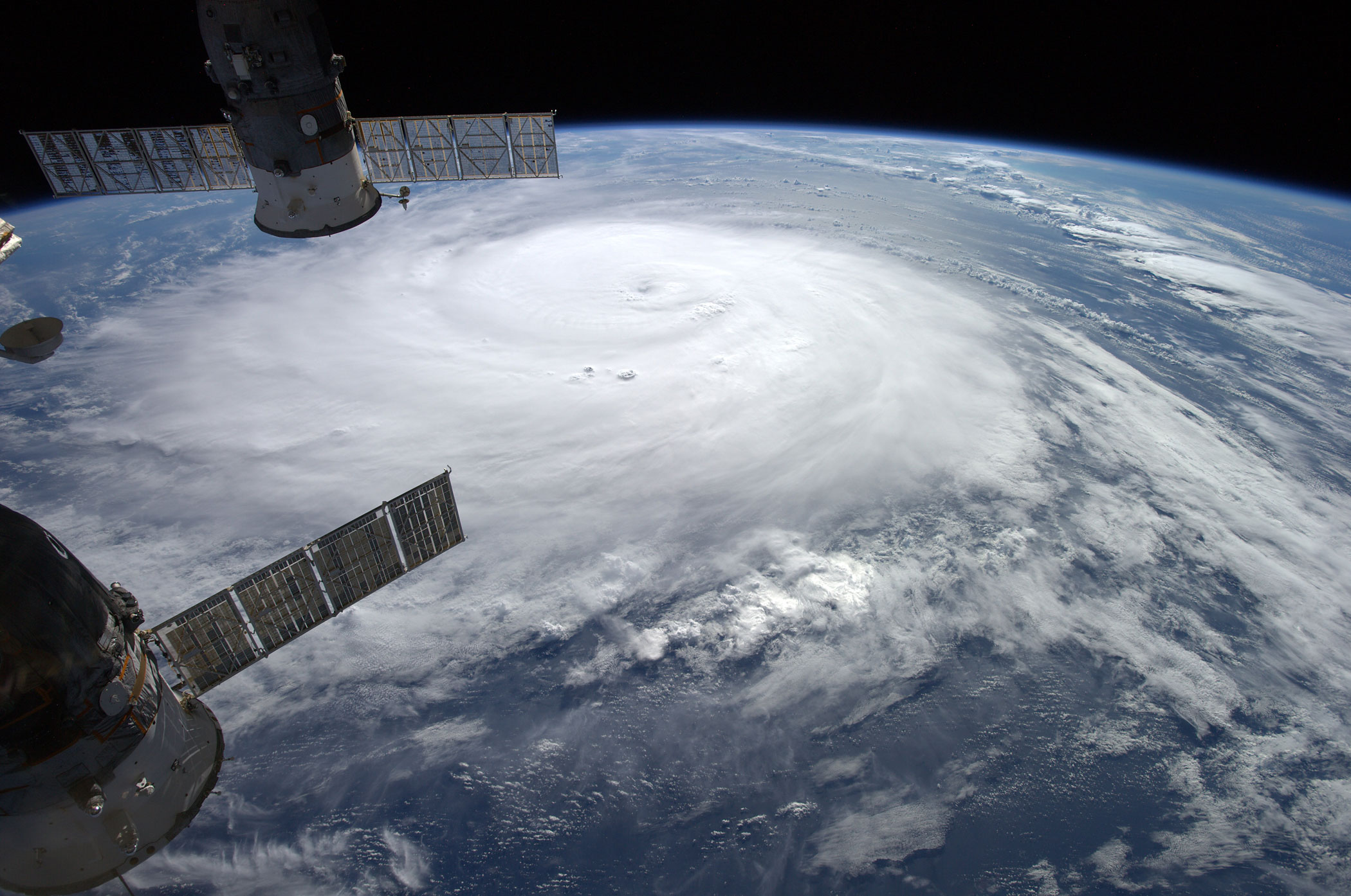 Hurricane Gonzalo seen from the International Space Station as it moves toward Bermuda on Thursday, Oct. 16, 2014.
