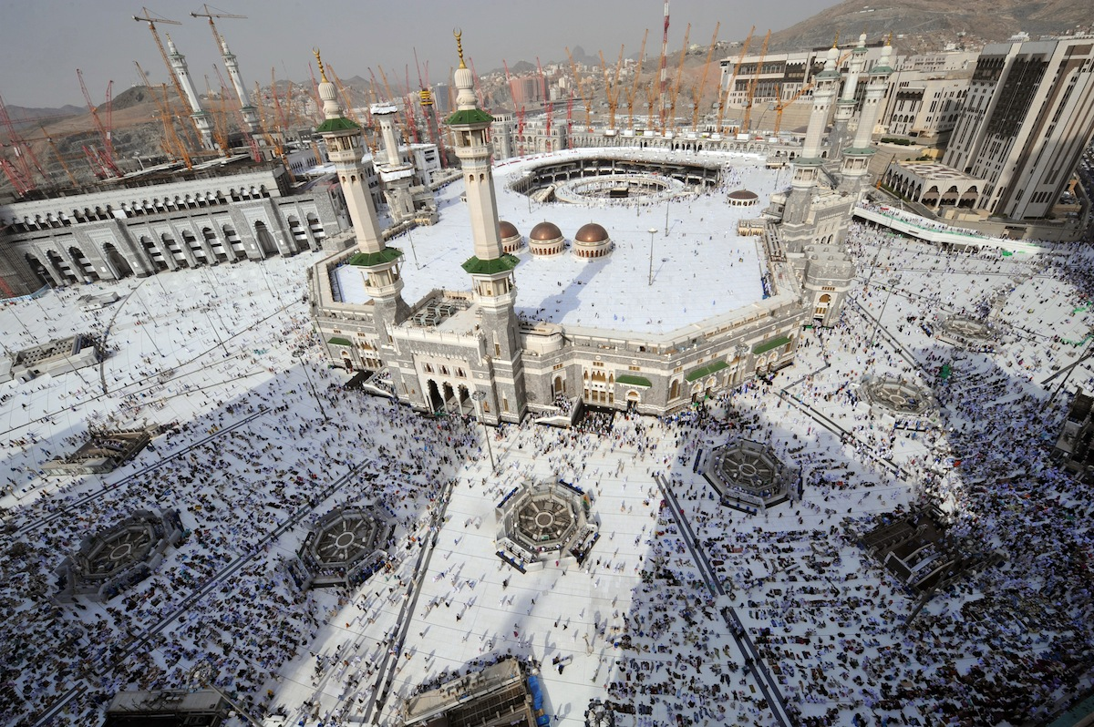 Pilgrims arriving at Mecca's Grand Mosque on Oct. 10, 2013, during the hajj pilgrimage