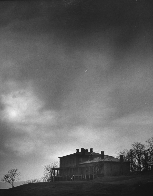 A supposedly haunted house once owned by Captain Edward Wyndam Schenley, pictured in 1945
