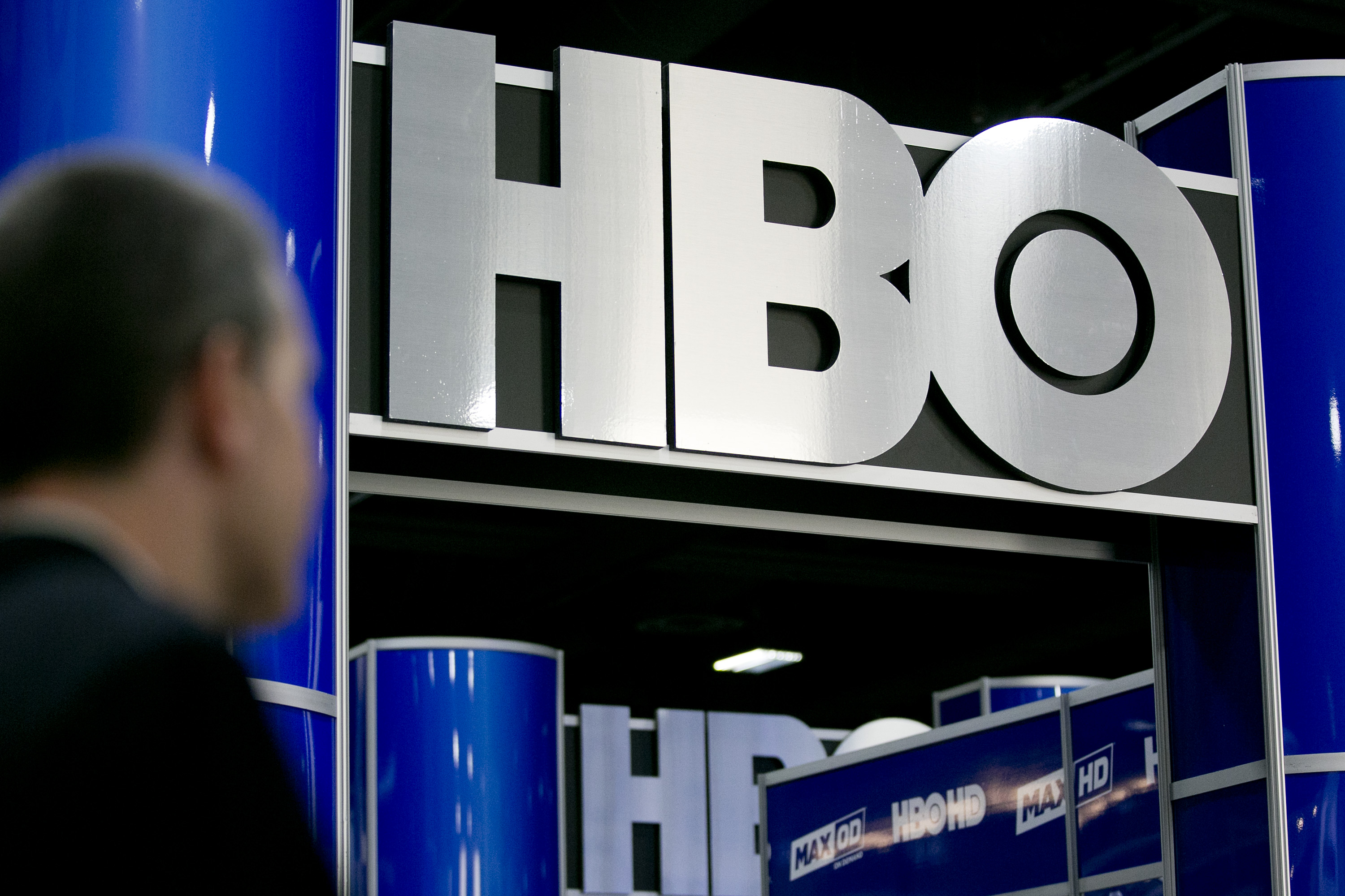 The logo of Home Box Office Inc. (HBO) is seen on the exhibit floor during the National Cable and Telecommunications Association (NCTA) Cable Show in Washington on June 11, 2013.