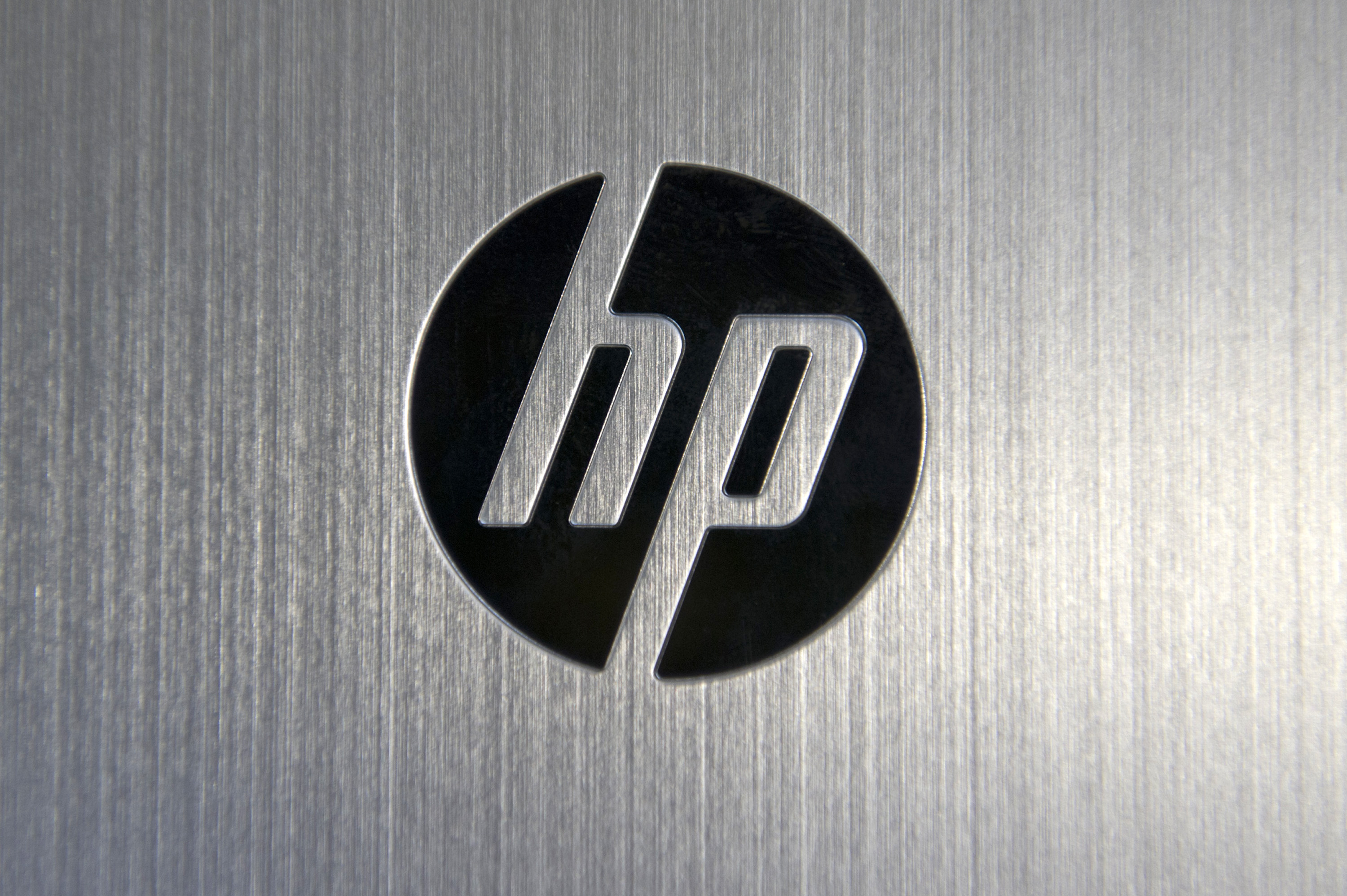 The Hewlett-Packard Co. logo is displayed on the back of the Envy x2 displayed for a photograph in San Francisco, California, on, March 13, 2013.