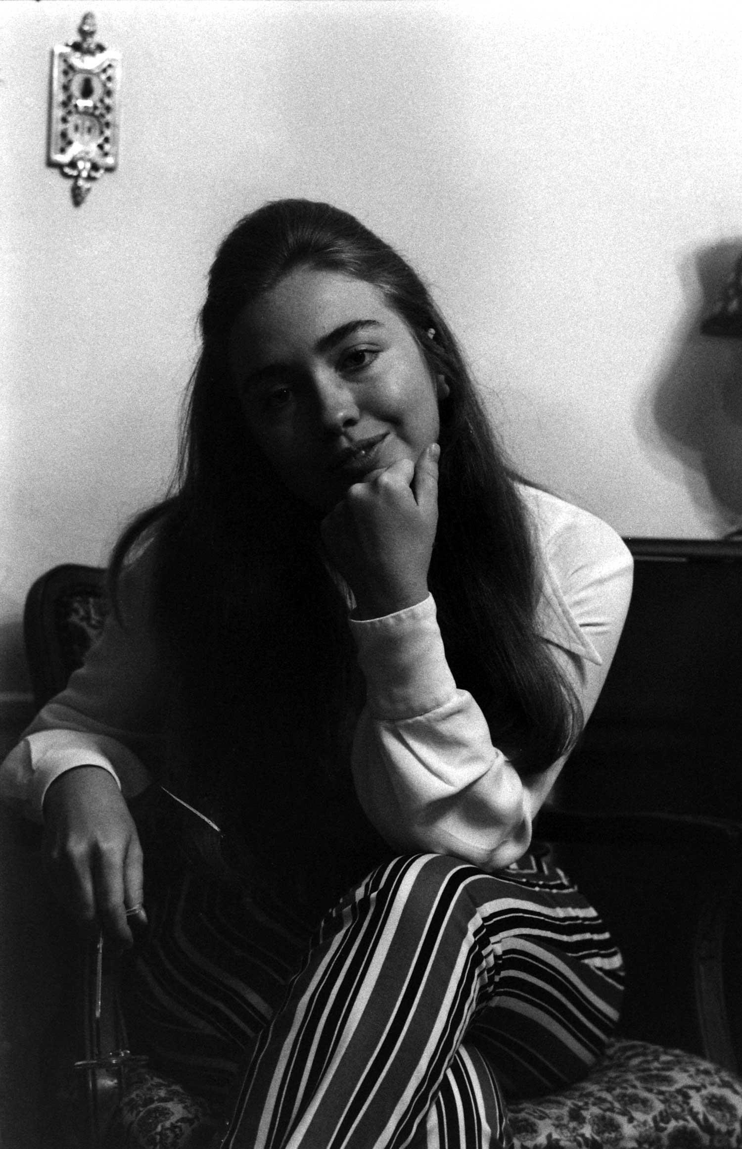 <b>Not published in LIFE.</b> Hillary Rodham (later Hillary Rodham Clinton), Park Ridge, Illinois, June 1969.