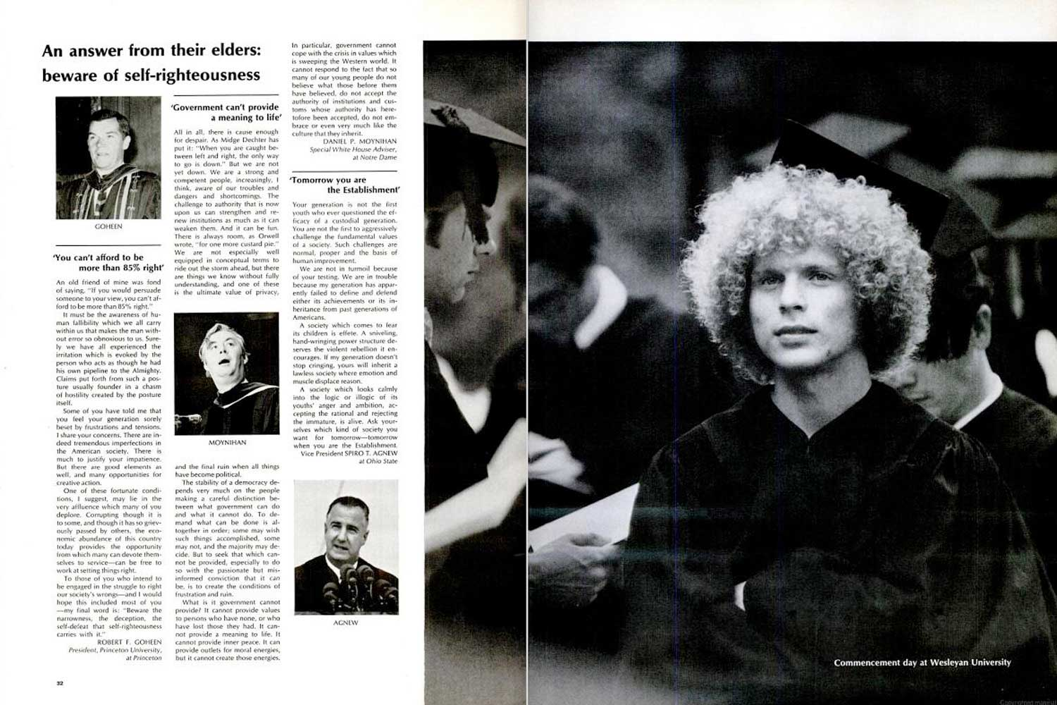 """LIFE magazine, June 20, 1969, """"Class of '69"""" page spreads. (Best viewed using """"Full Screen"""" option, at right.)"""