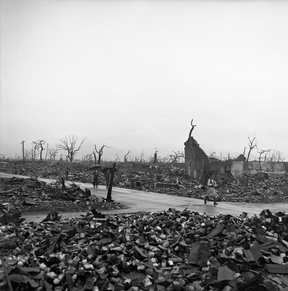 Not published in LIFE. Hiroshima, 1945, two months after the August 6 bombing.