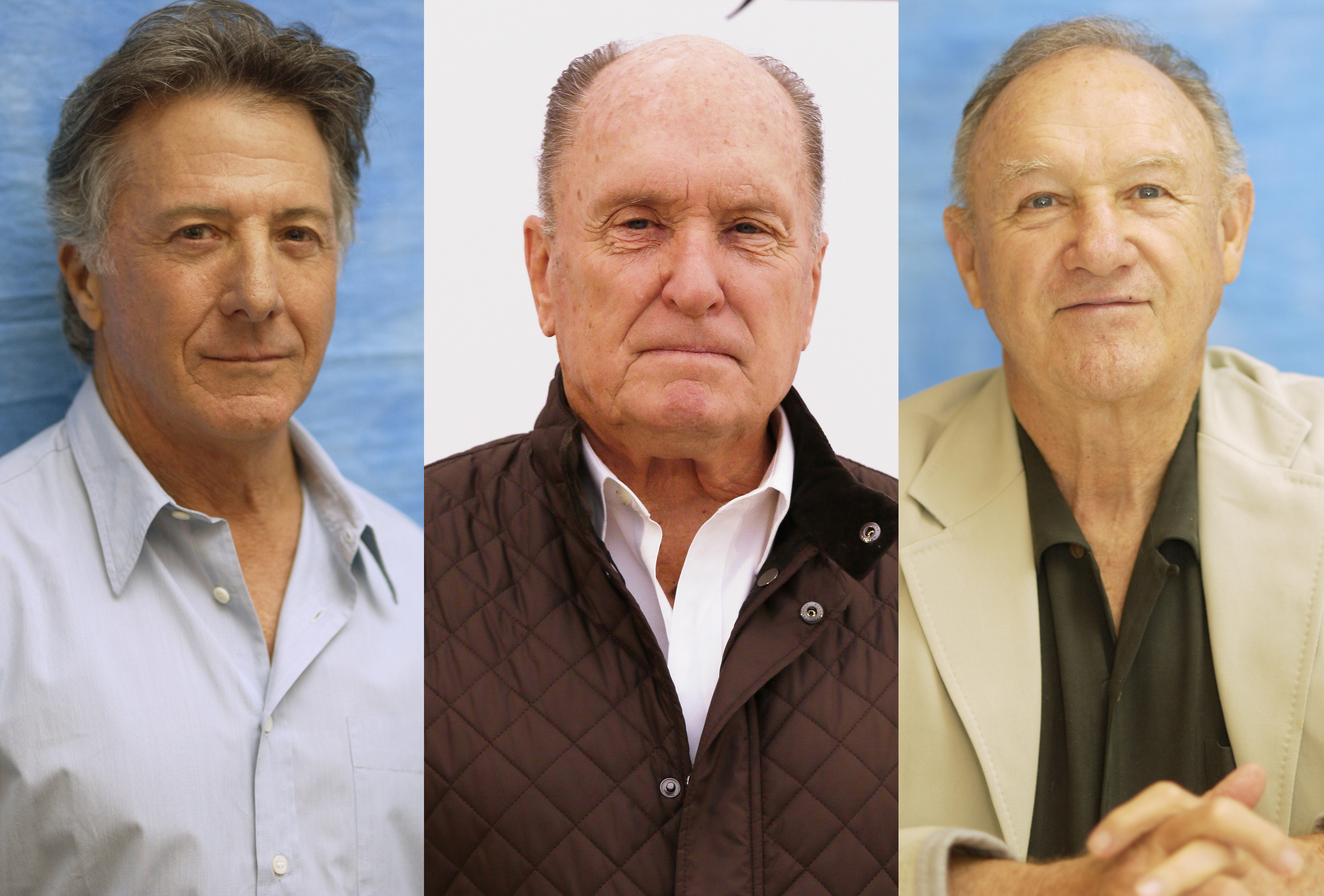 The triple crown: Dustin Hoffman, Robert Duvall and Gene Hackman. In the late 1950s, Hackman helped Hoffman find a place to stay in New York, and his new roommate was Duvall.