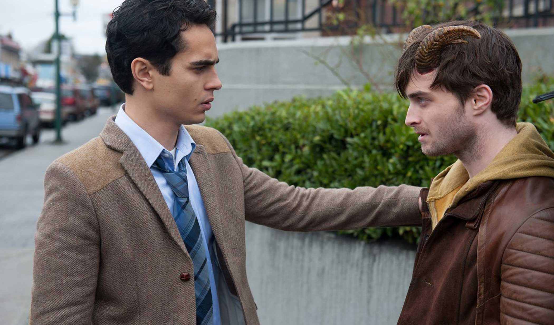 Max Minghella and Daniel Radcliffe in Horns