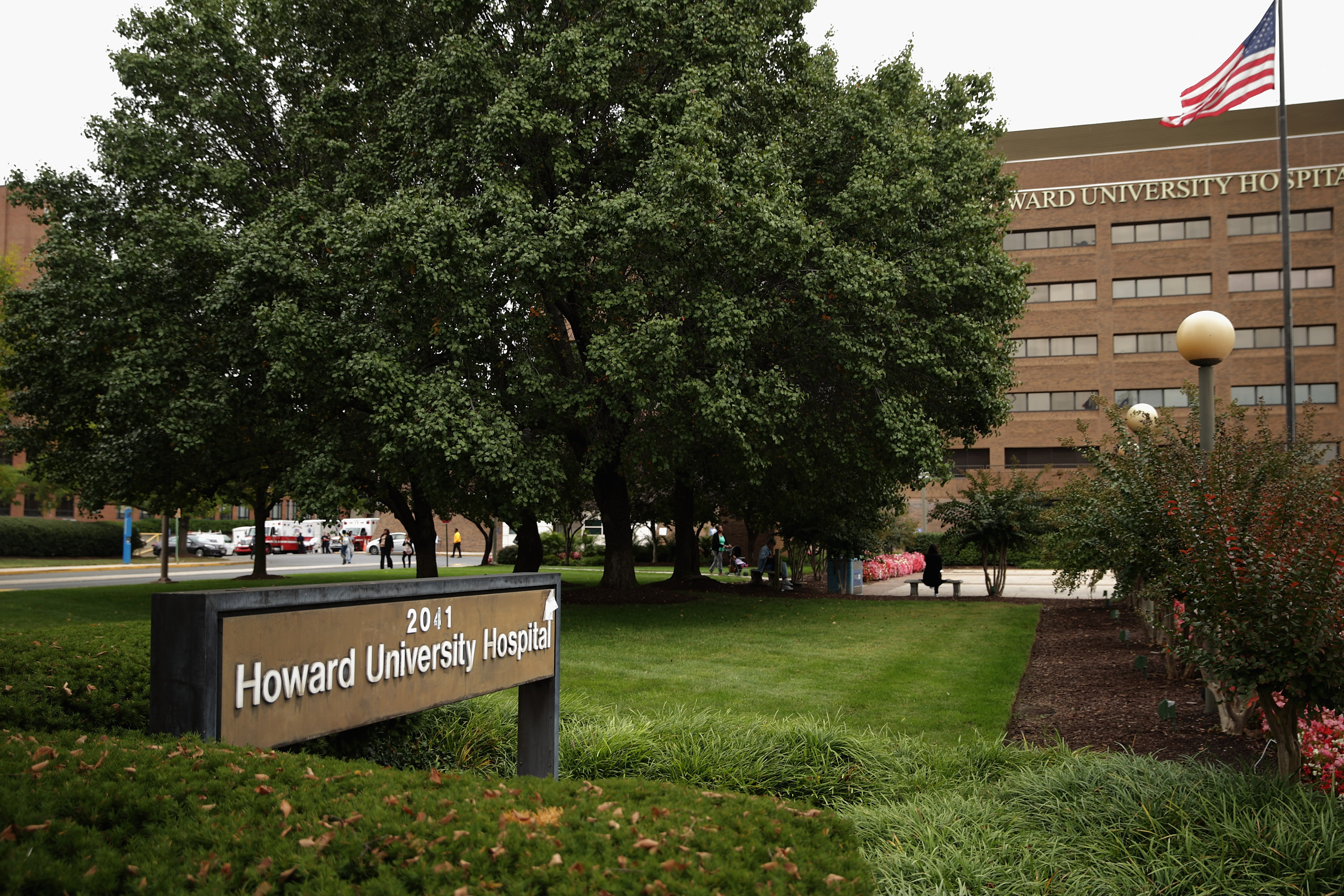 Howard University Hospital has admitted a patient with Ebola-like symptoms according to a hospital spokesperson October 3, 2014 in Washington, D.C.