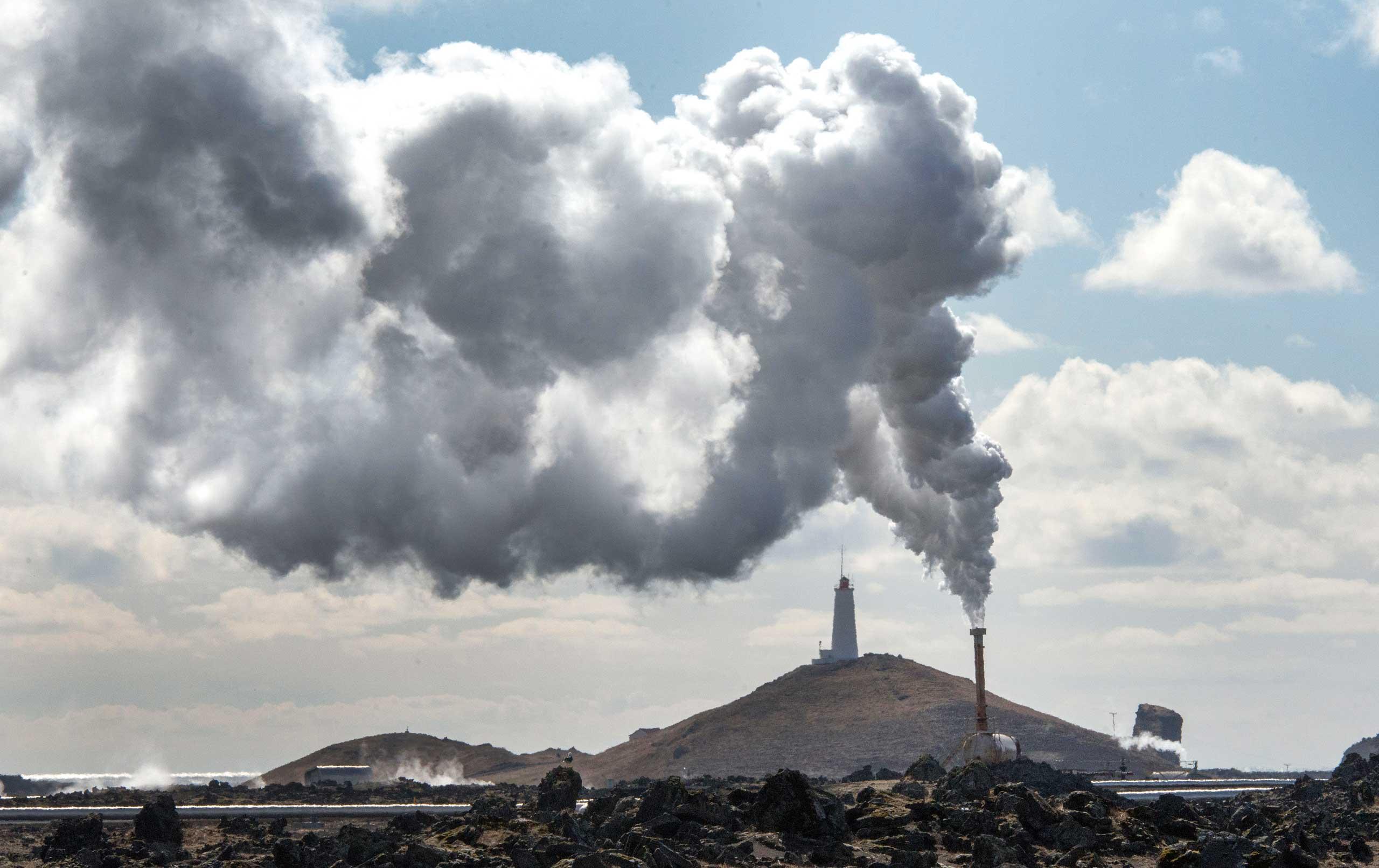 Reykjanes power station in Iceland, seen in 2013.