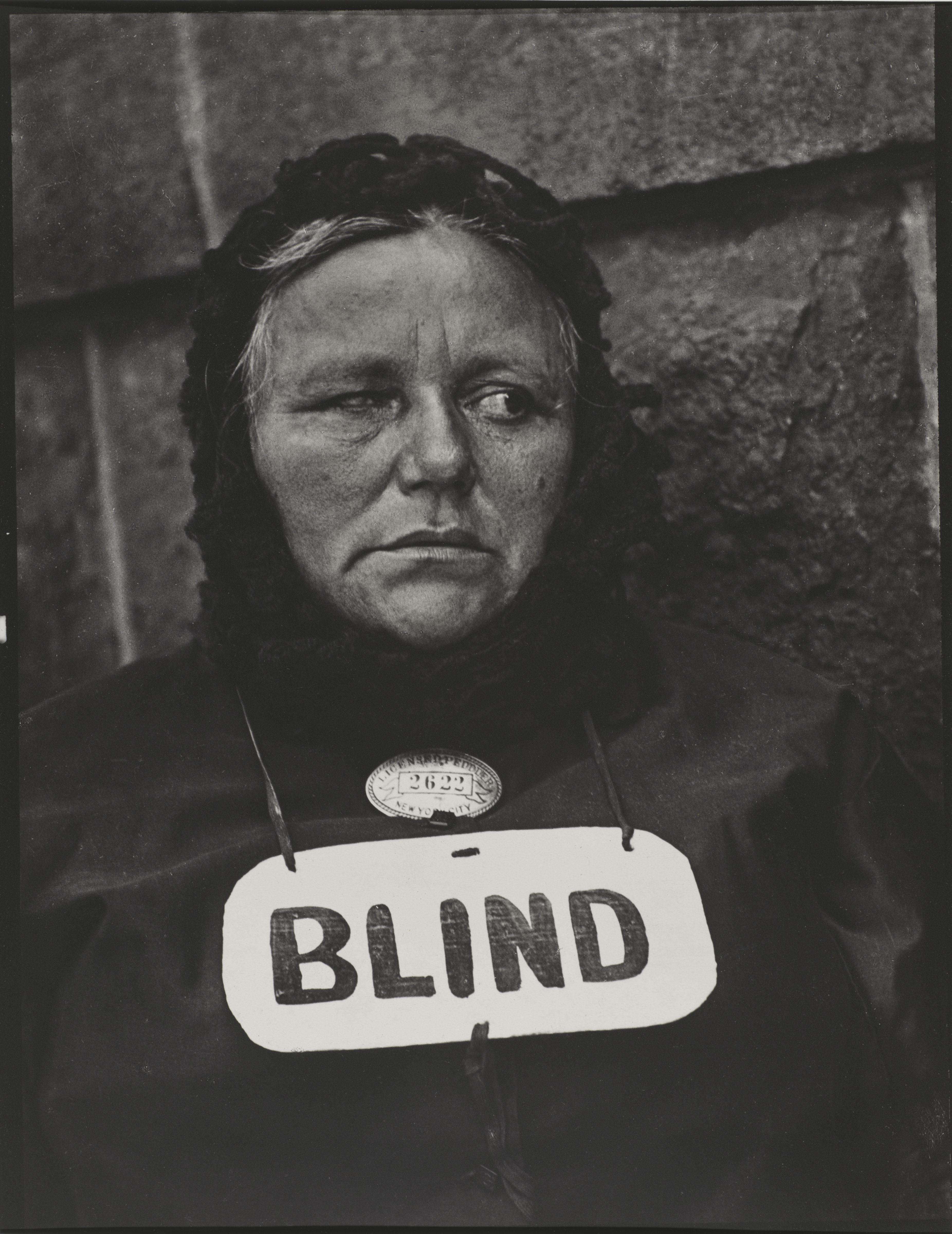 Blind Woman, New York, 1916