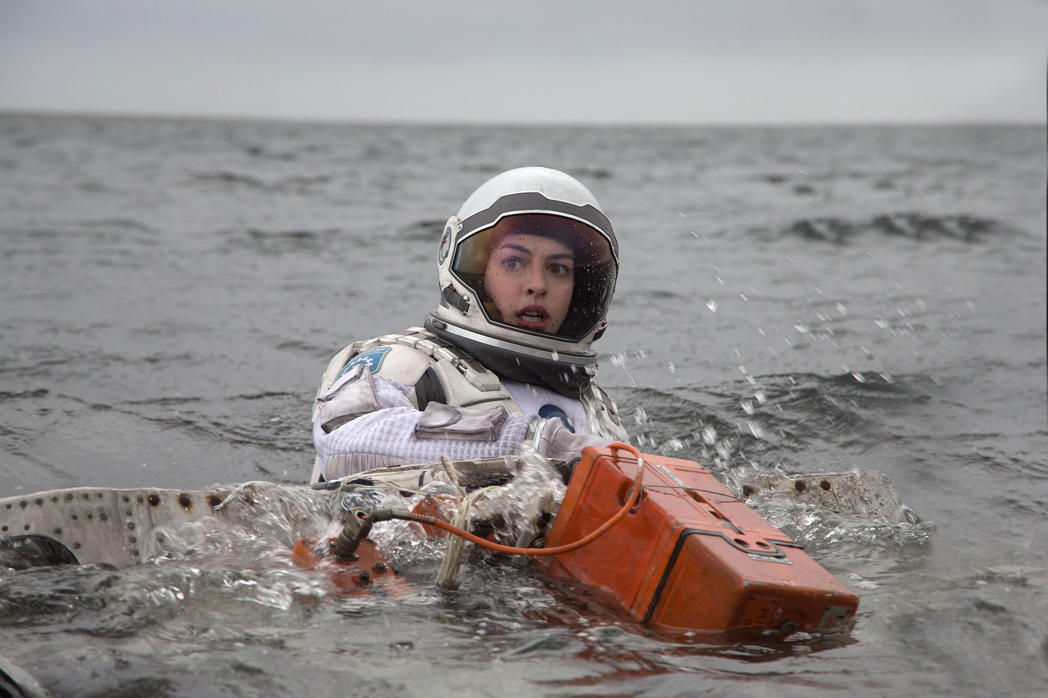 Anne Hathaway in  a scene from <i>Interstellar</i>.