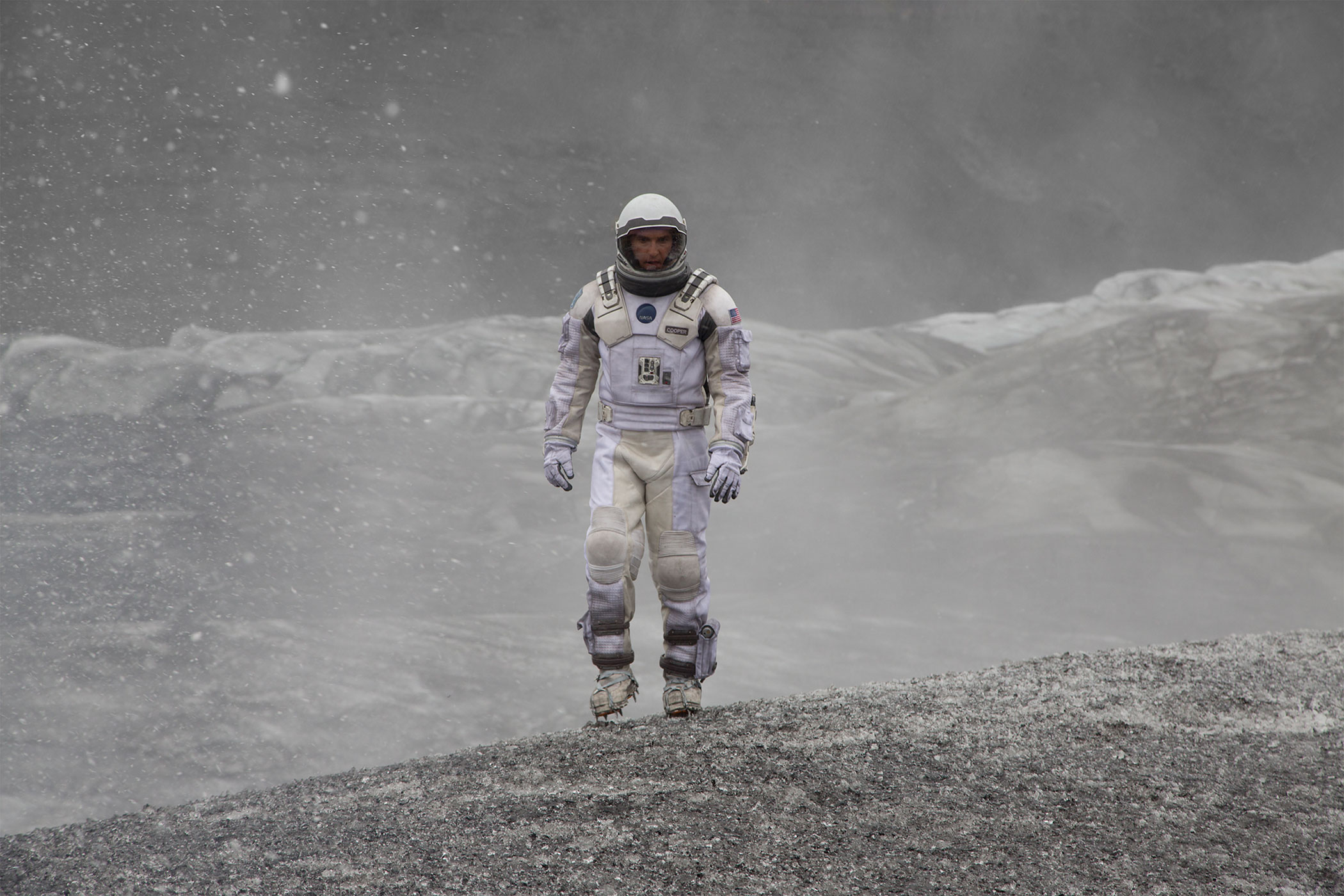Matthew McConaughey in  a scene from <i>Interstellar</i>.