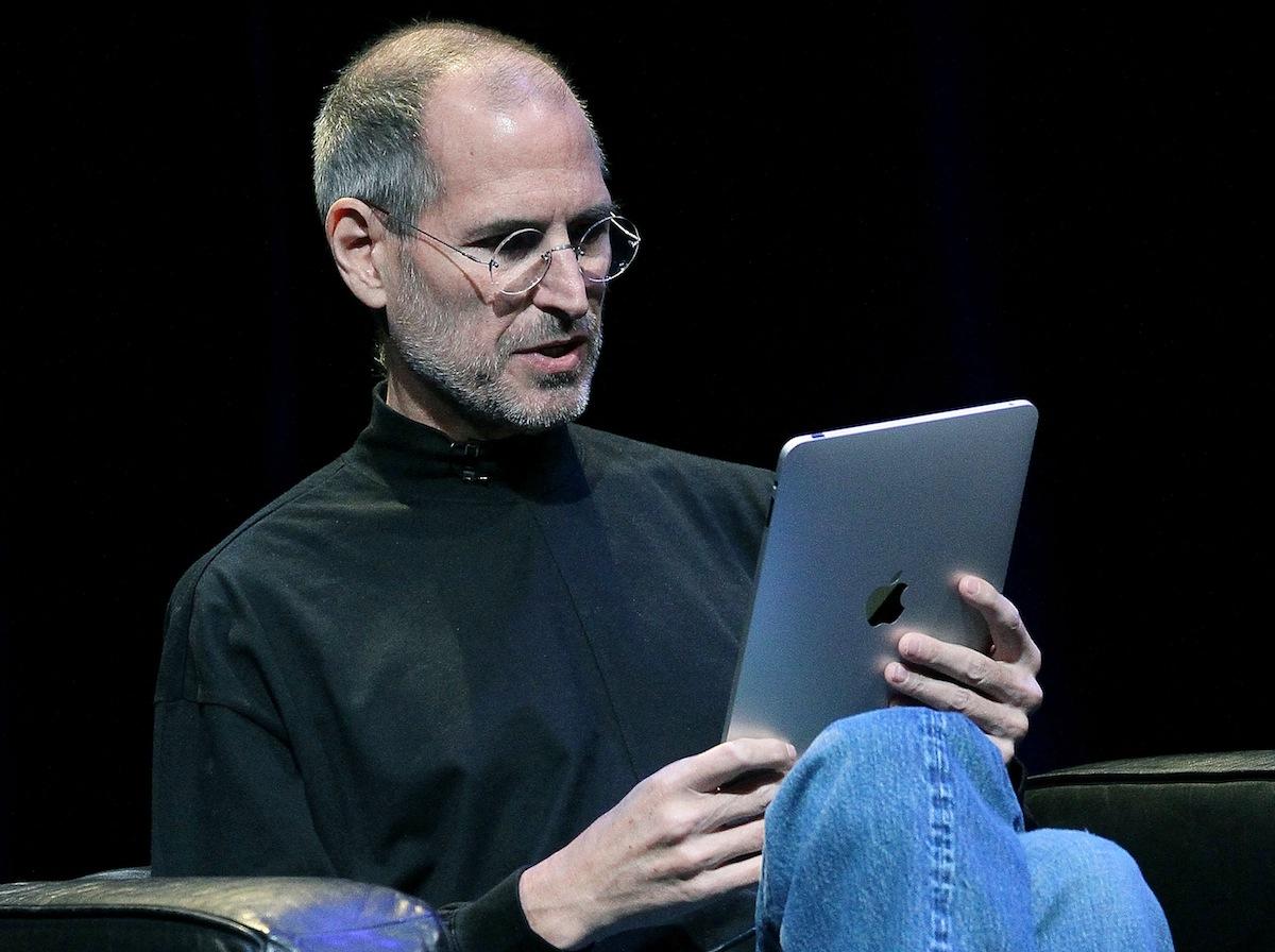 Steve Jobs demonstrates the new iPad on Jan. 27, 2010, in San Francisco