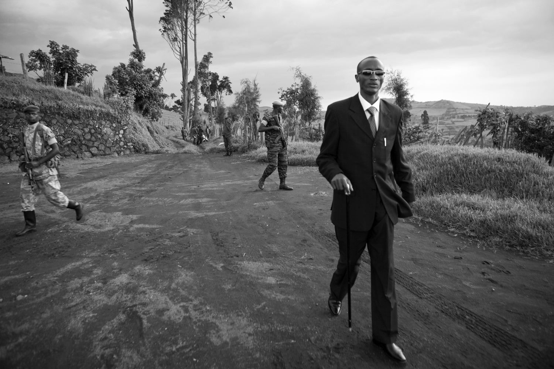 Laurent N'Kunda, leader of the Tutsi rebels movement. Democratic Republic of Congo.