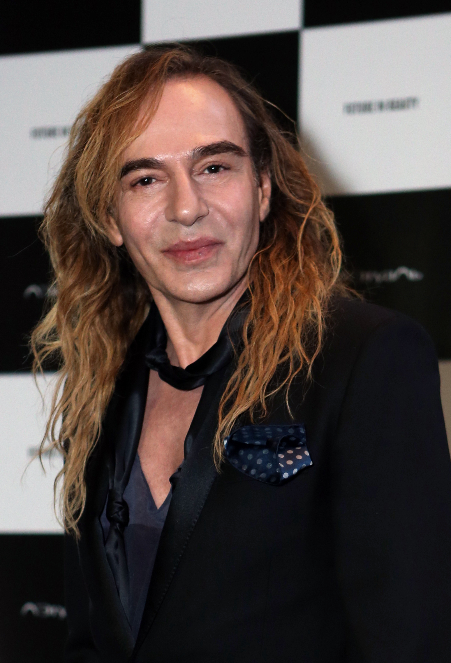 Designer John Galliano poses at Barvikha Luxury Village in Moscow on May 22, 2014.