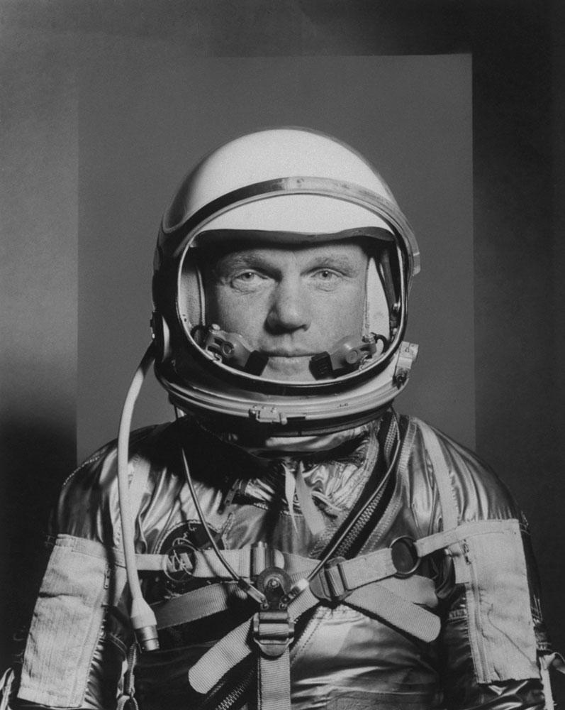 John Glenn, Project Mercury astronaut, 1959.