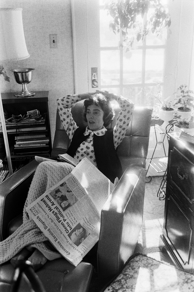 <b>Not published in LIFE.</b> John Glenn's wife, Annie, photographed at home in Ohio in January 1964.