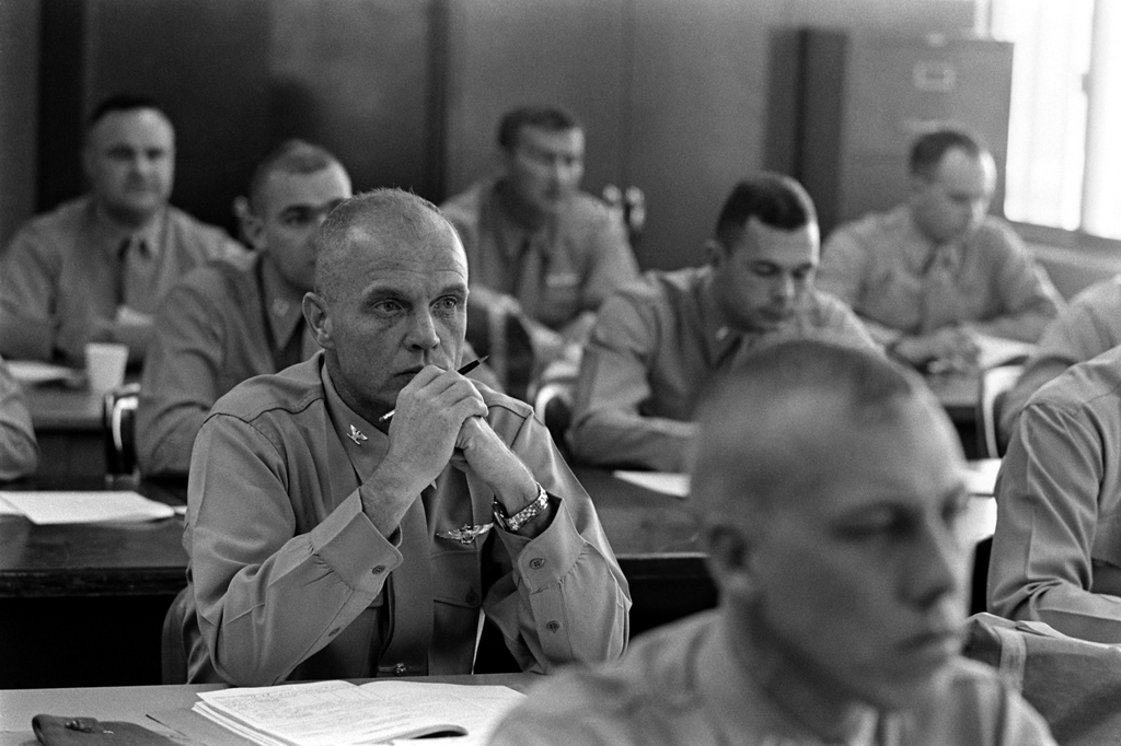 <b>Not published in LIFE. </b>Colonel John Glenn, Marine Corps Air Station, El Toro, in southern California, 1964