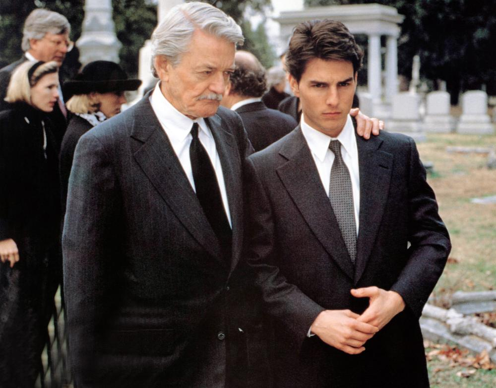The Firm, 1993 From Left: Hal Holbrook as Oliver Lambert and Tom Cruise as Mitch McDeere