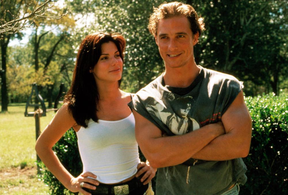 A Time To Kill, 1996 From Left: Sandra Bullock as Ellen Roark and Matthew McConoughey as Jake Tyler Brigance