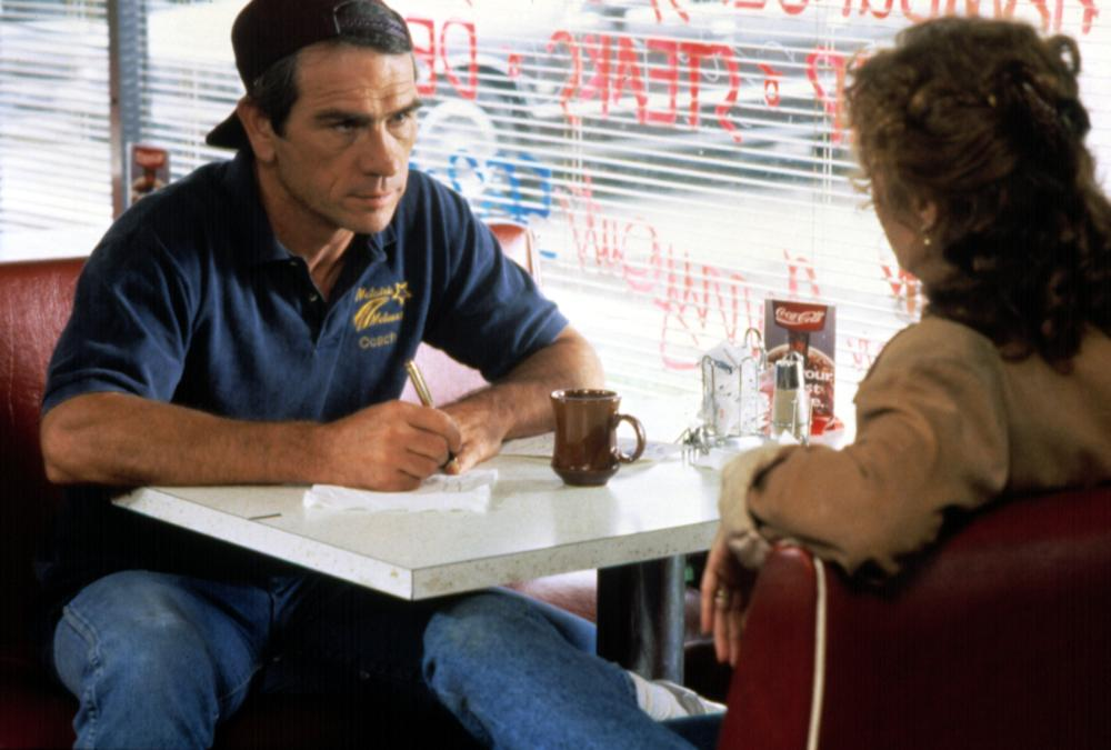 The Client, 1994 From Left: Tommy Lee Jones as Roy Foltrigg and Susan Sarandon as Reggie Love