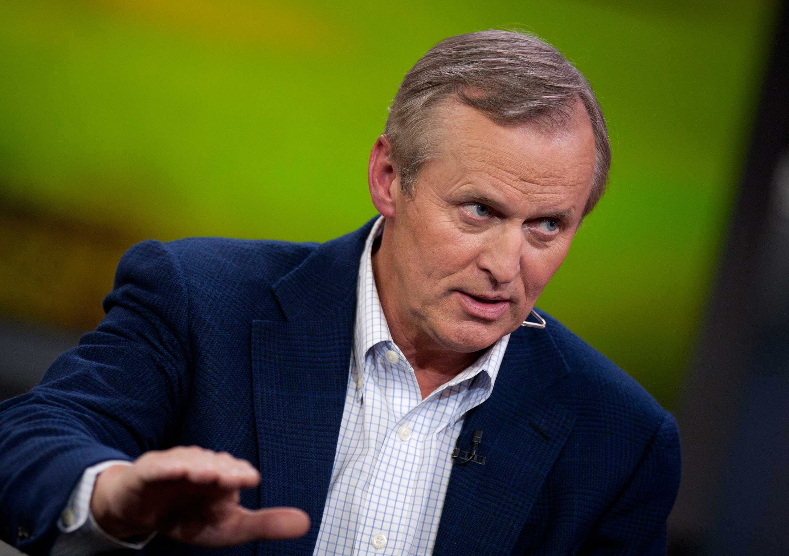 John Grisham speaks during a television interview in New York in 2012.