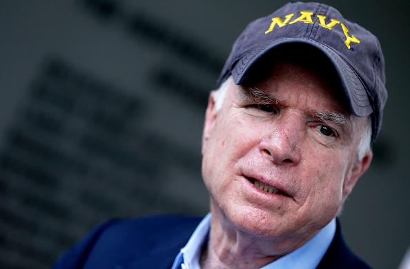 U.S. Senator John McCain speaks to supporters at a Veterans rally on Oct. 13, 2014 in Baton Rouge, Louisiana.
