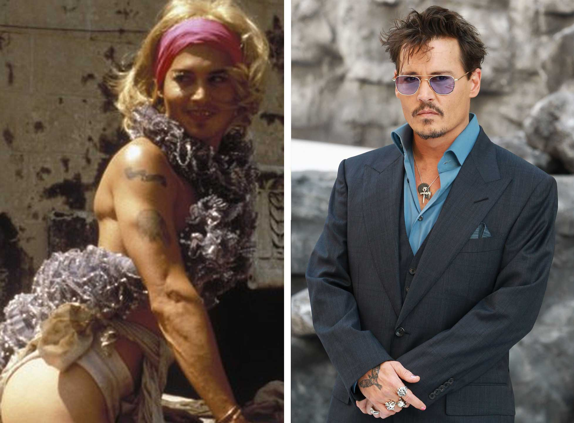 Johnny Depp as Bon Bon/Lt. Victor in Before Night Falls