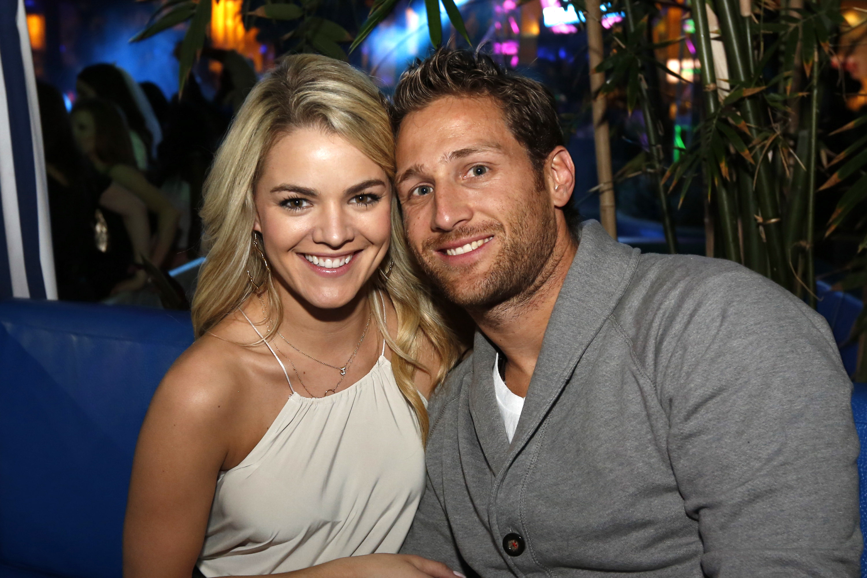 Juan Pablo Galavis and girlfriend Nikki Ferrell from the ABC reality show The Bachelor host The Pool After Dark at Harrah's Resort on March 29, 2014 in Atlantic City.