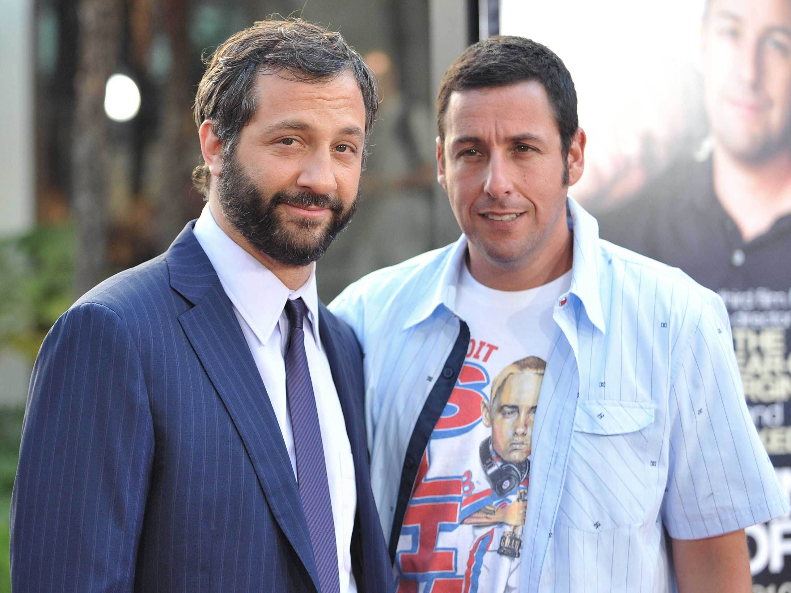 More roomies! Judd Apatow and Adam Sandler lived together early in their careers.