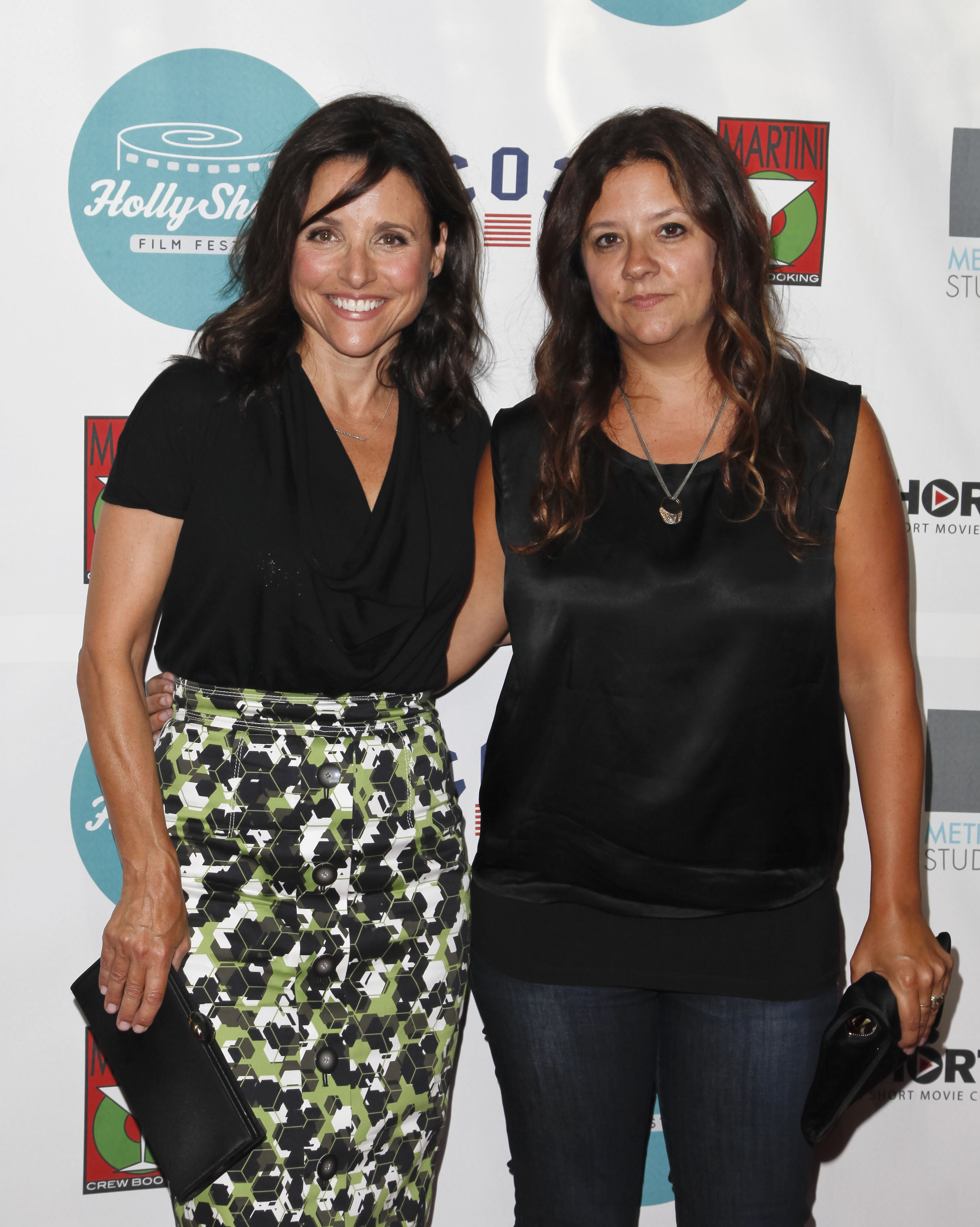 From left: Julia Louis Dreyfus and Stephanie Laing at TCL Chinese Theatre on August 14, 2014 in Hollywood, California.
