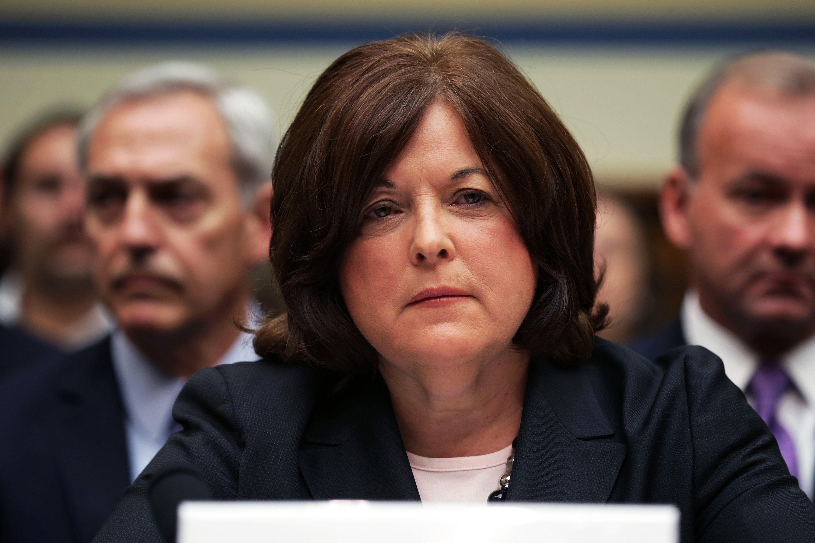 Secret Service director Julia Pierson prepares to testify to the House Oversight and Government Reform Committee on the White House perimeter breach at the Rayburn House Office Building, in Washington, D.C., on Sept. 30, 2014