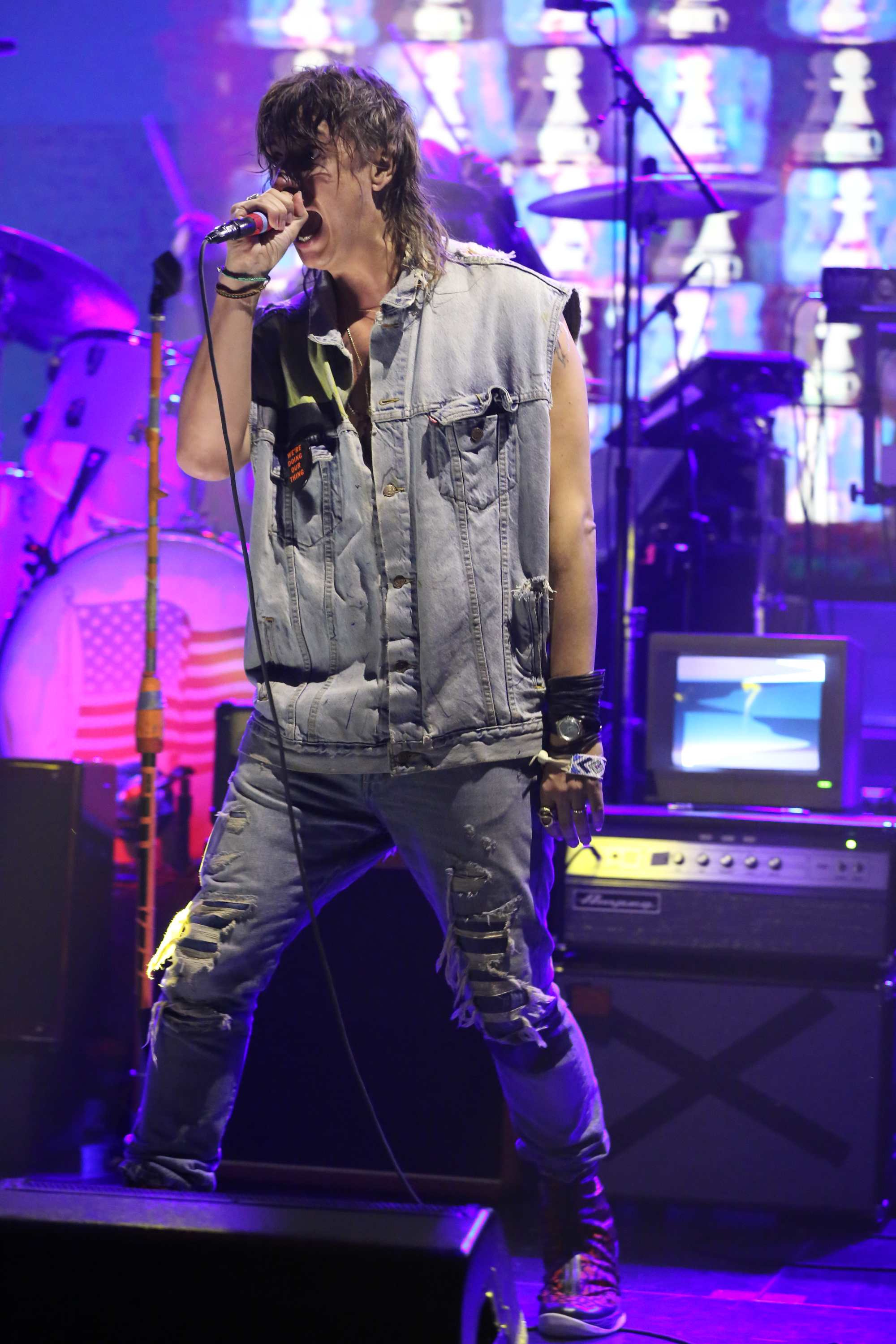 Musical guest Julian Casablancas and The Voidz perform at the Tonight Show on September 23, 2014.