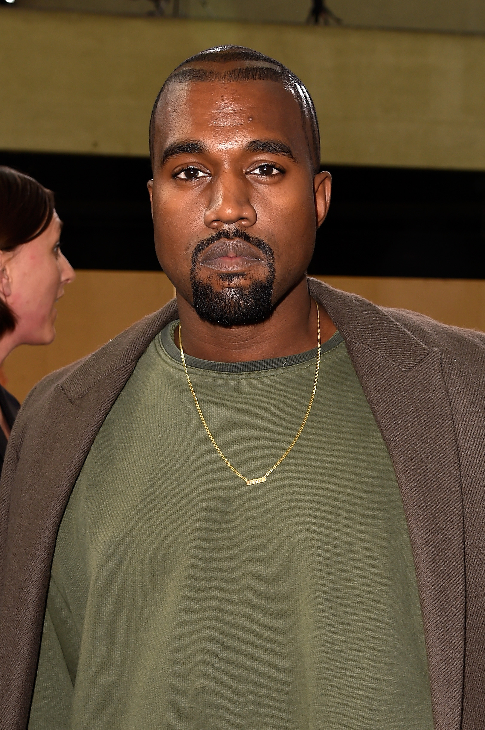 PARIS, FRANCE - SEPTEMBER 28:  Kanye West attends the Celine show as part of the Paris Fashion Week Womenswear Spring/Summer 2015 on September 28, 2014 in Paris, France.