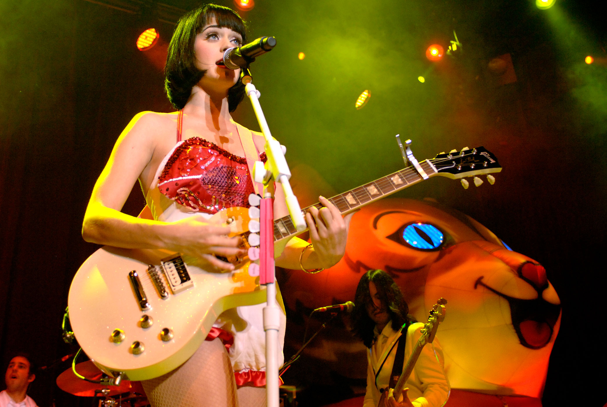 Katy Perry performs part of The Hello Katy Tour at The Fillmore in San Francisco, California, Jan 28, 2009.