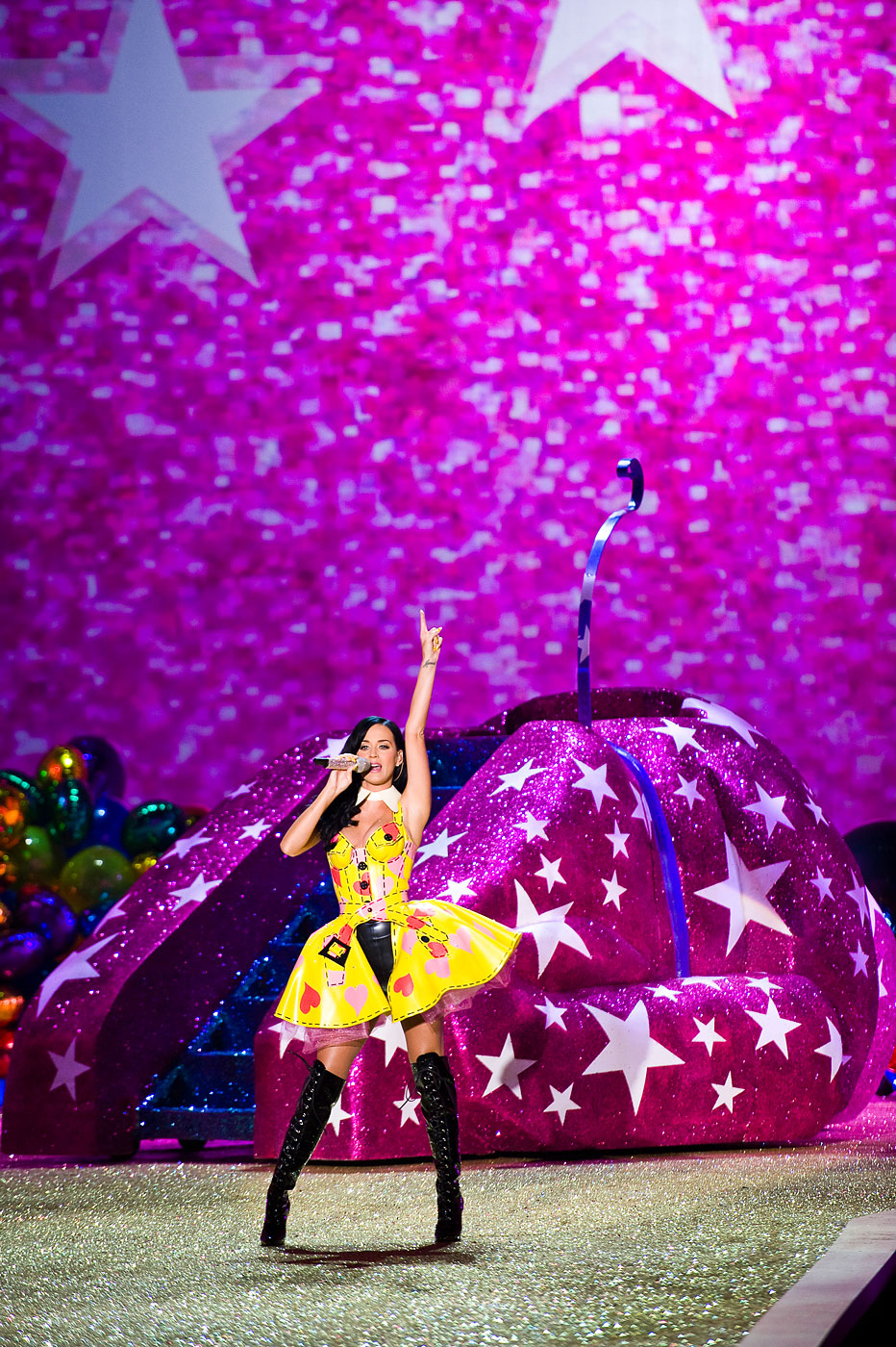 Katy Perry performs in the 2010 Victoria's Secret Fashion Show in New York.