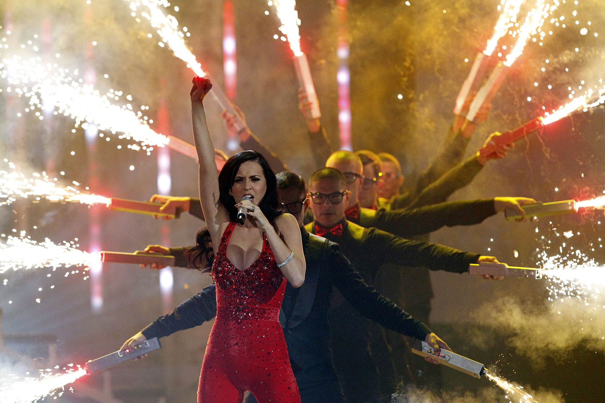 Katy Perry performs 'Firework' at the 2010 American Music Awards in Los Angeles November 21, 2010.