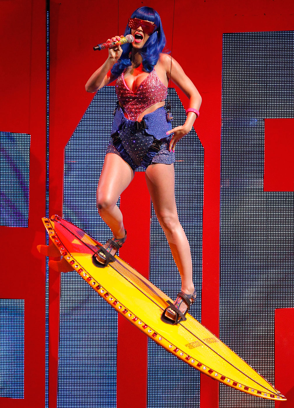 Katy Perry performs 'California Gurls' at the 2010 MTV Movie Awards in Los Angeles, June 6, 2010.