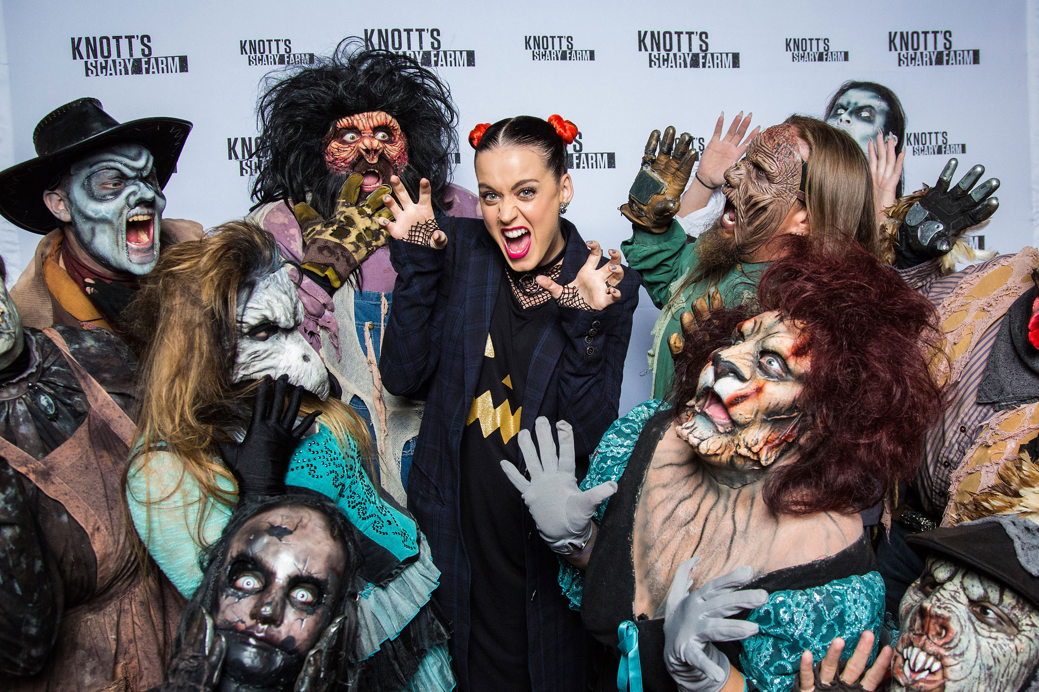 Katy Perry visits Knott's Scary Farm October 11, 2014 in Buena Park, Calif.