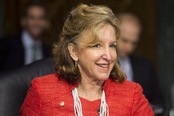 Sen. Kay Hagan, D-N.C., takes her seat for the Senate Banking, Housing and Urban Affairs Committee hearing on  The Semiannual Monetary Policy Report to the Congress  with Federal Reserve Board Chairwoman Janet Yellen on July 15, 2014.