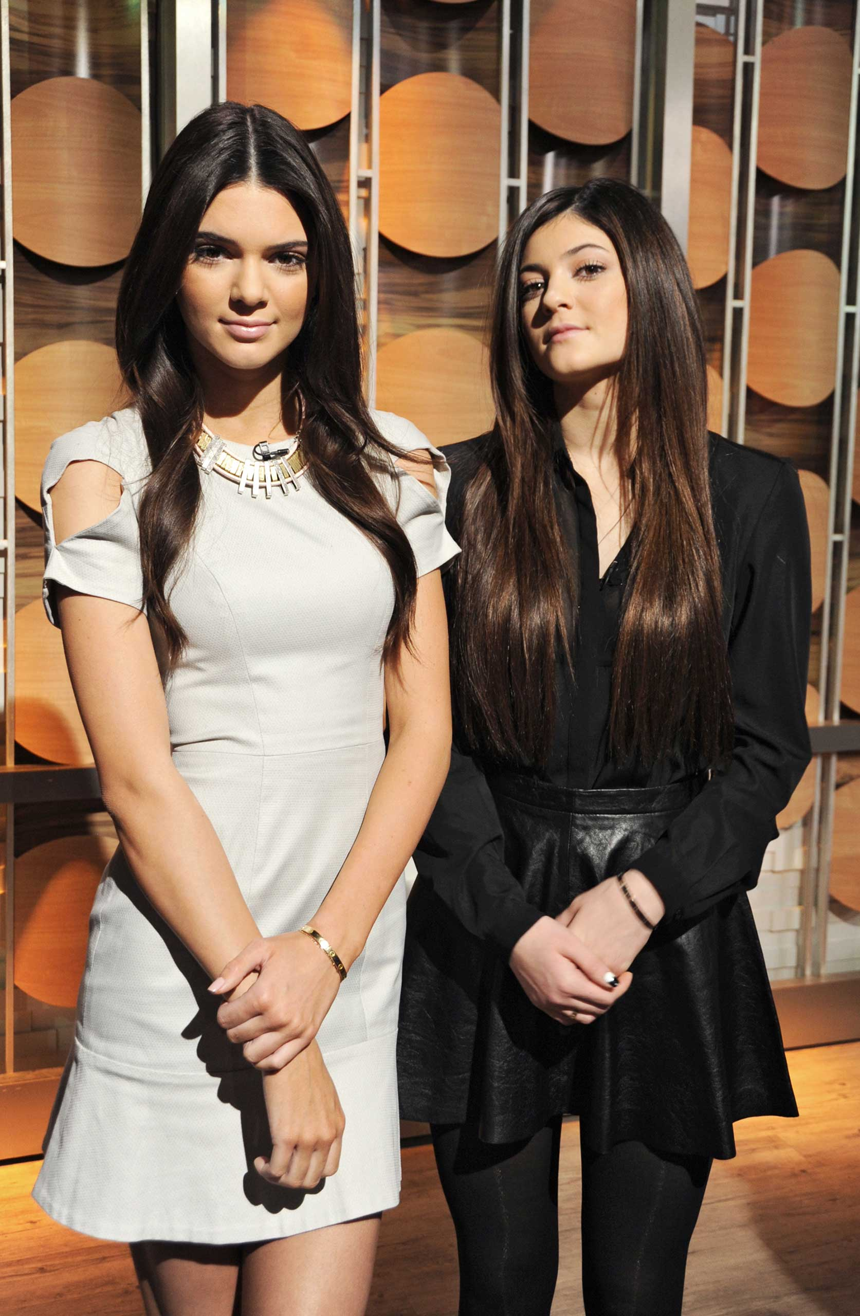 Reality stars Kendall and Kylie Jenner share hot spring trends for teens on  Good Morning America,  2/8/13, airing on the ABC Television Network. (Photo by Donna Svennevik/Disney-ABC via Getty Images)KYLIE JENNER, KENDALL JENNER