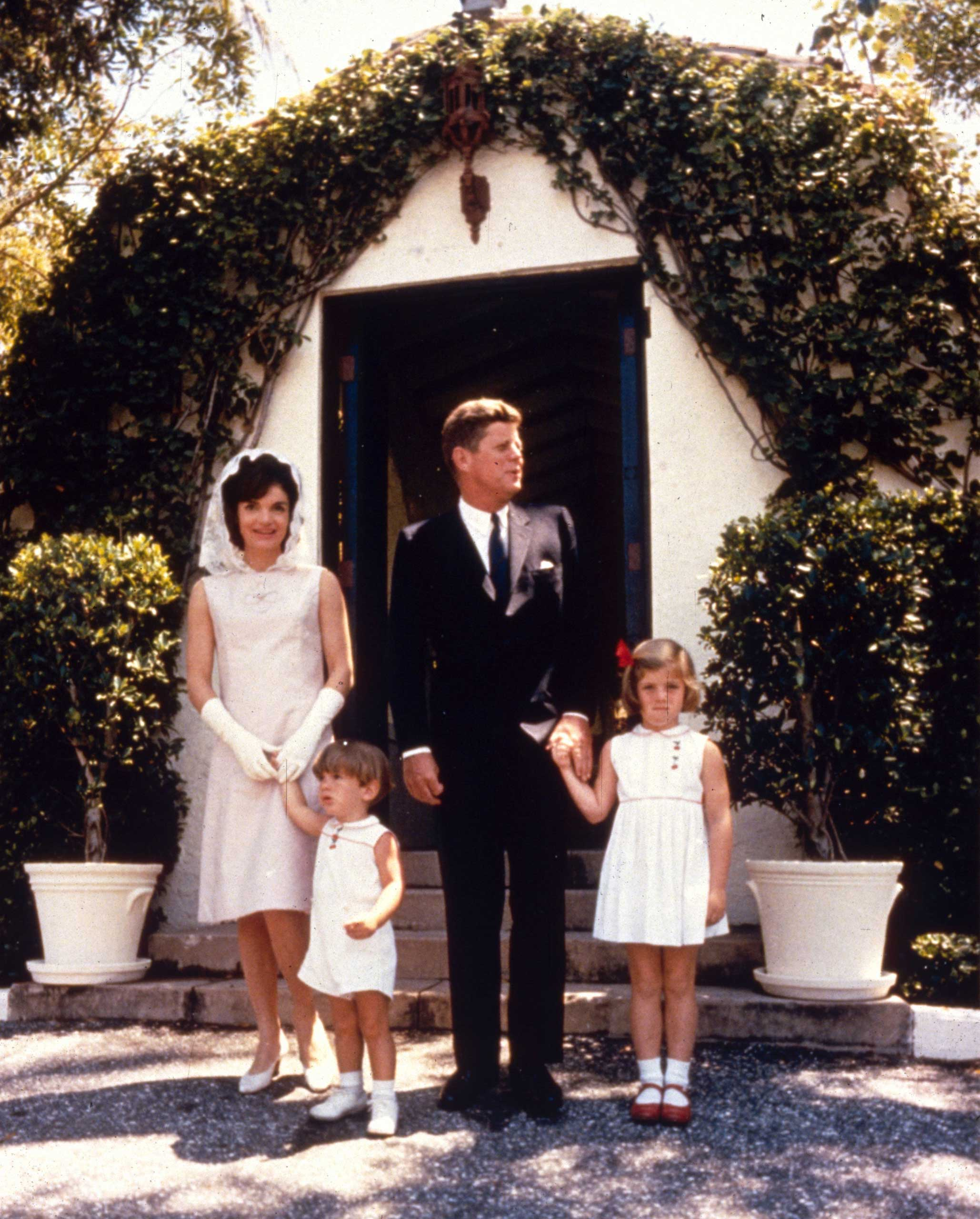 Pictured here on Easter Sunday 1963: John F. and Jacqueline Kennedy with their two children, John Jr. (left), who would become a publisher and die in a plane crash in 1999, and Caroline (right), an attorney, writer, and U.S. Ambassador to Japan. The Kennedy clan also includes Ted Kennedy, who served in the U.S. Senate until his death in 2009, Robert Kennedy Jr., a prominent environmental activist, Joseph P. Kennedy III, who was elected to Congress in 2012, and many other prominent Americans.