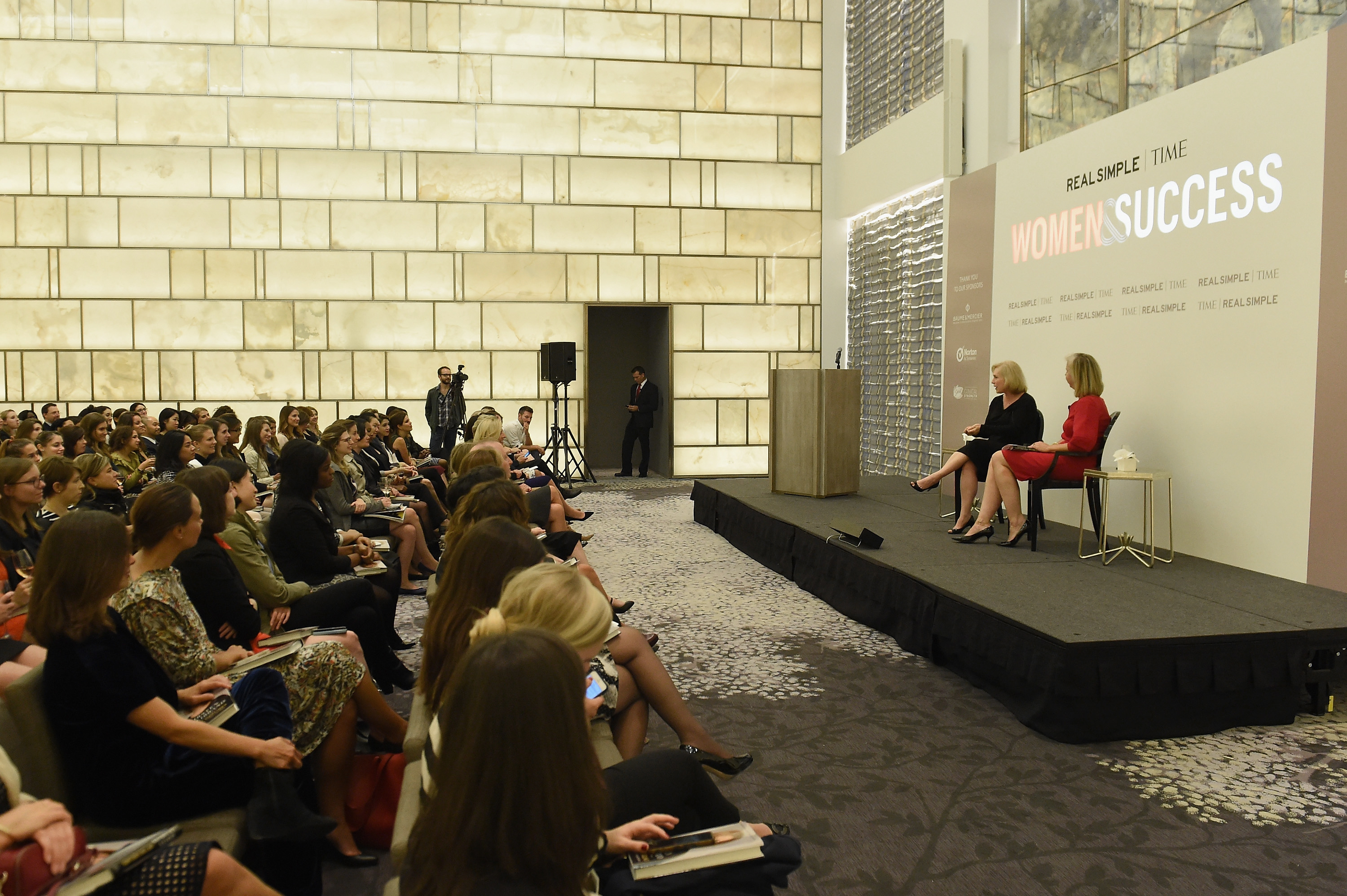 Kirsten Gillibrand and Nancy Gibbs speak at the TIME and Real Simple's Women & Success event at the Park Hyatt on Oct. 1, 2014 in New York City.