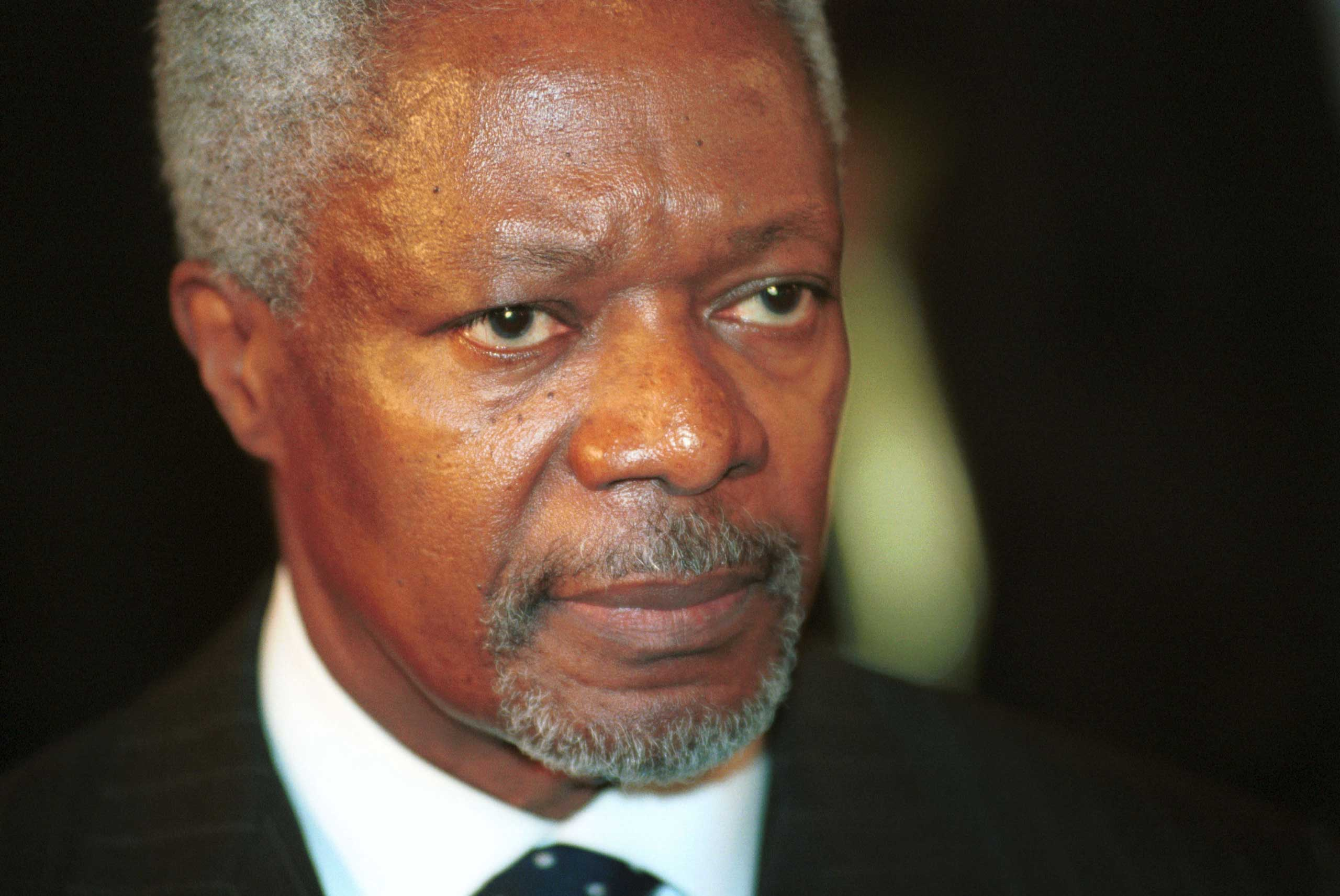"""<b>Kofi Annan, 2001</b>Shared with the United Nations """"for their work for a better organized and more peaceful world"""""""